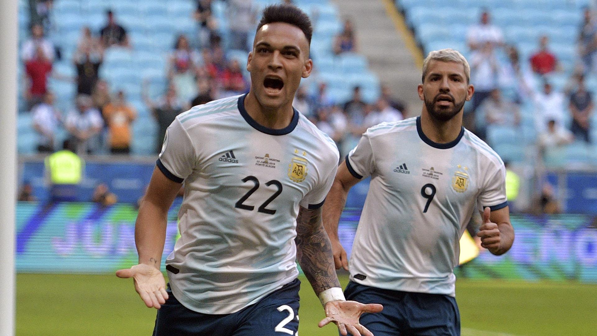 El delantero del Inter marcó su primer gol en competencias oficiales con la Selección