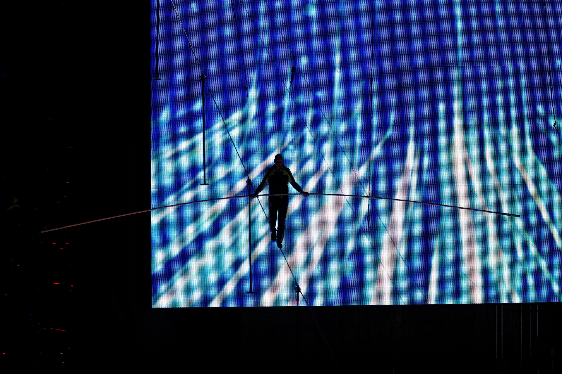 Los hermanos Wallenda nunca utilizan redes en sus espectáculos en vivo ni en sus ensayos.