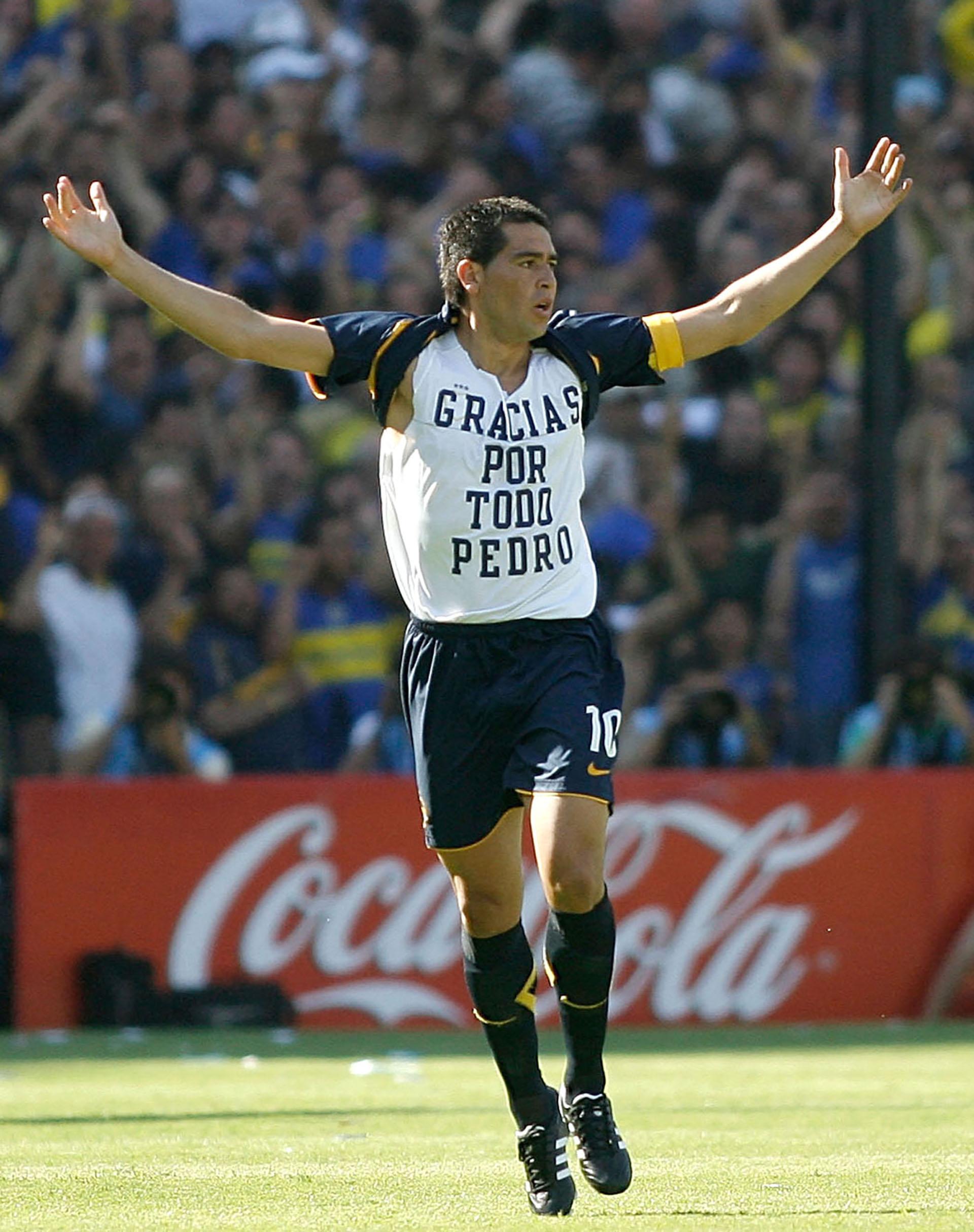 En 2008 le dedicó un gol al fallecido presidente de Boca, Pedro Pompilio (NA)
