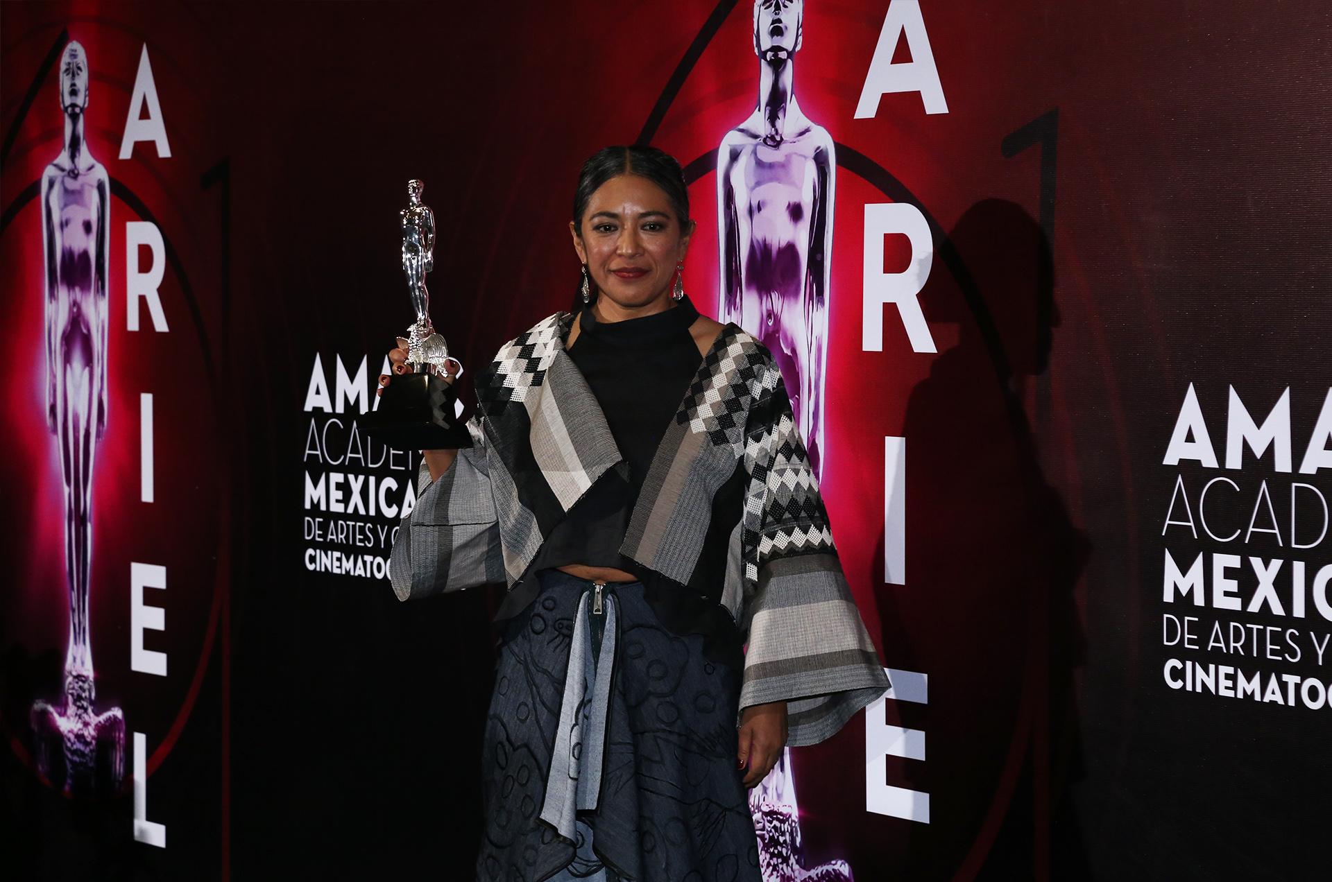 Ángelez Cruz, ganadora de cortometraje de ficción por Arcángeles (Foto: Juan Vicente Manrique/Infobae)