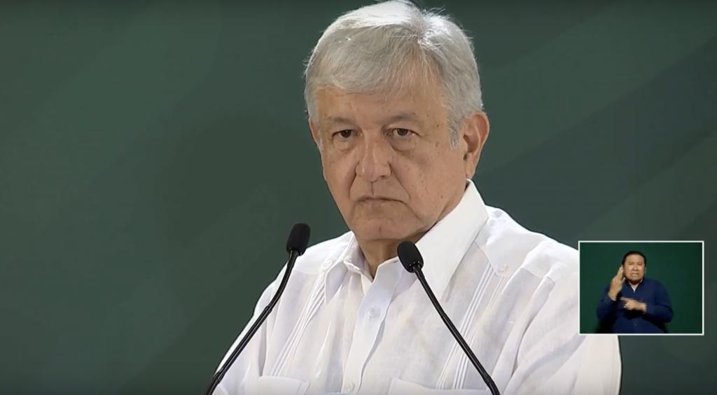 López Obrador se mostró incómodo mientras la reportera lo confrontaba (Foto: Captura de pantalla)
