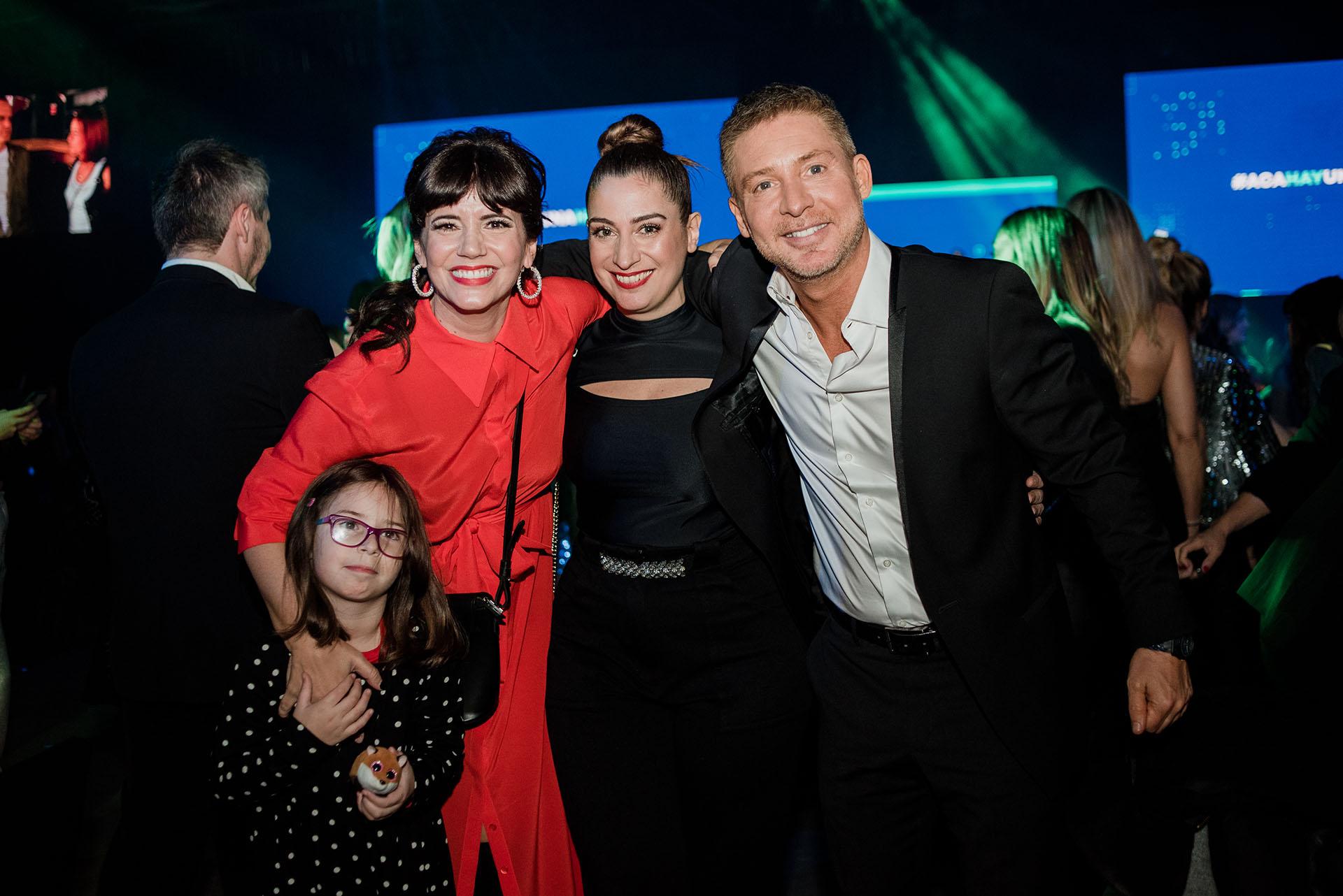 Griselda Siciliani, Muriel Santa Ana, Adrián Suar y Margarita