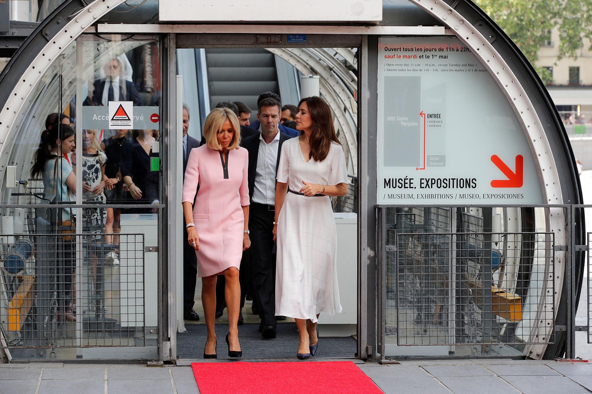 En el Centro Pompidou, disfrutaron de la exposición de la artista danesa, Sonja Ferlov