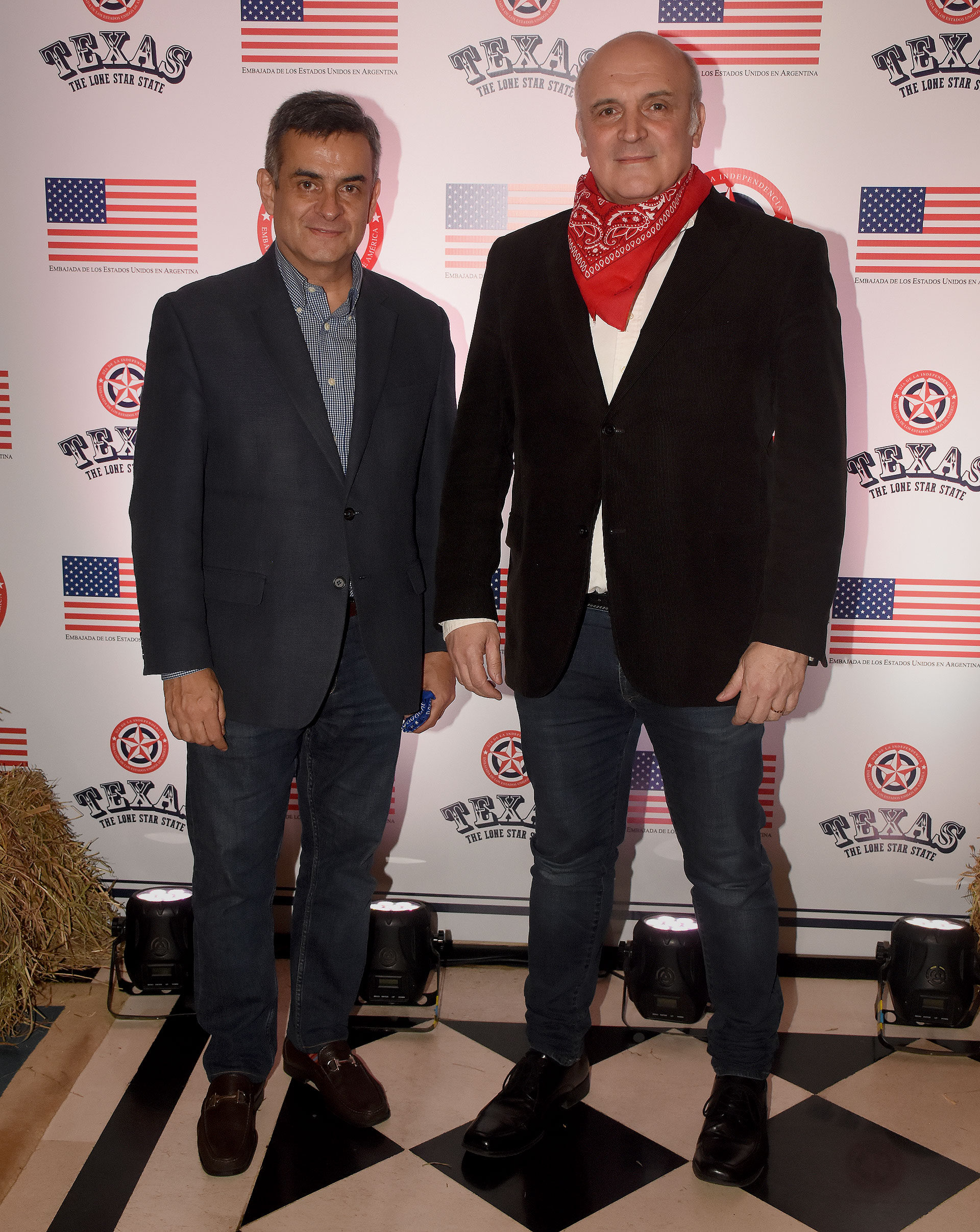 El precandidato presidencial José Luis Espert junto a su compañero de fórmula Luis Rosales