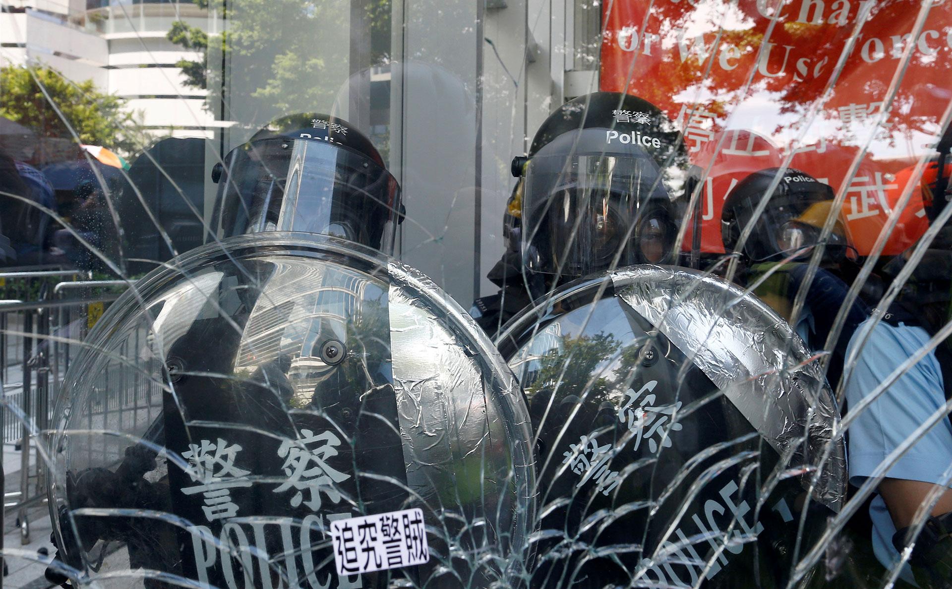 La policía estaba adentro del edifico. (Reuters)