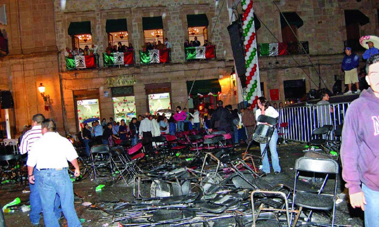 granadazos en Morelia 2008