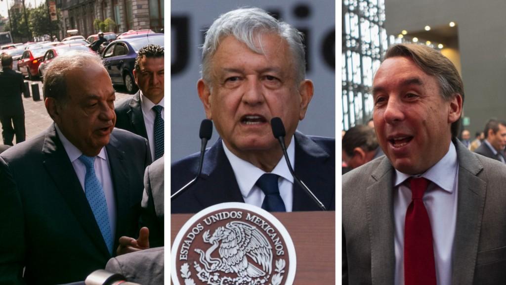 """Slim y Azcárraga ya habían estado presentes en otro d los """"informes"""" de López Obrador (Foto: Especial)"""