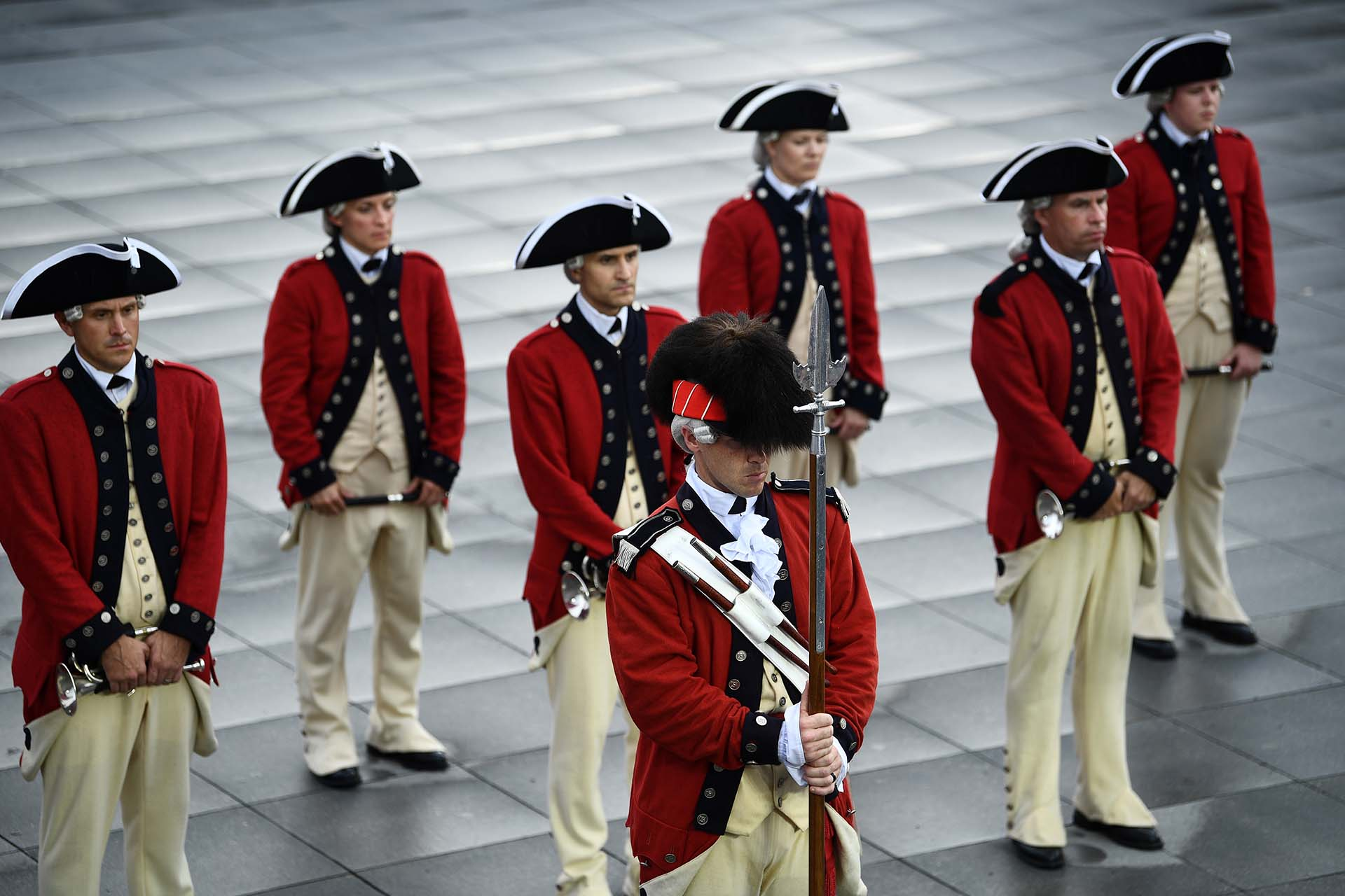 El cuerpo de tambores y vientos de la Marina de EEUU