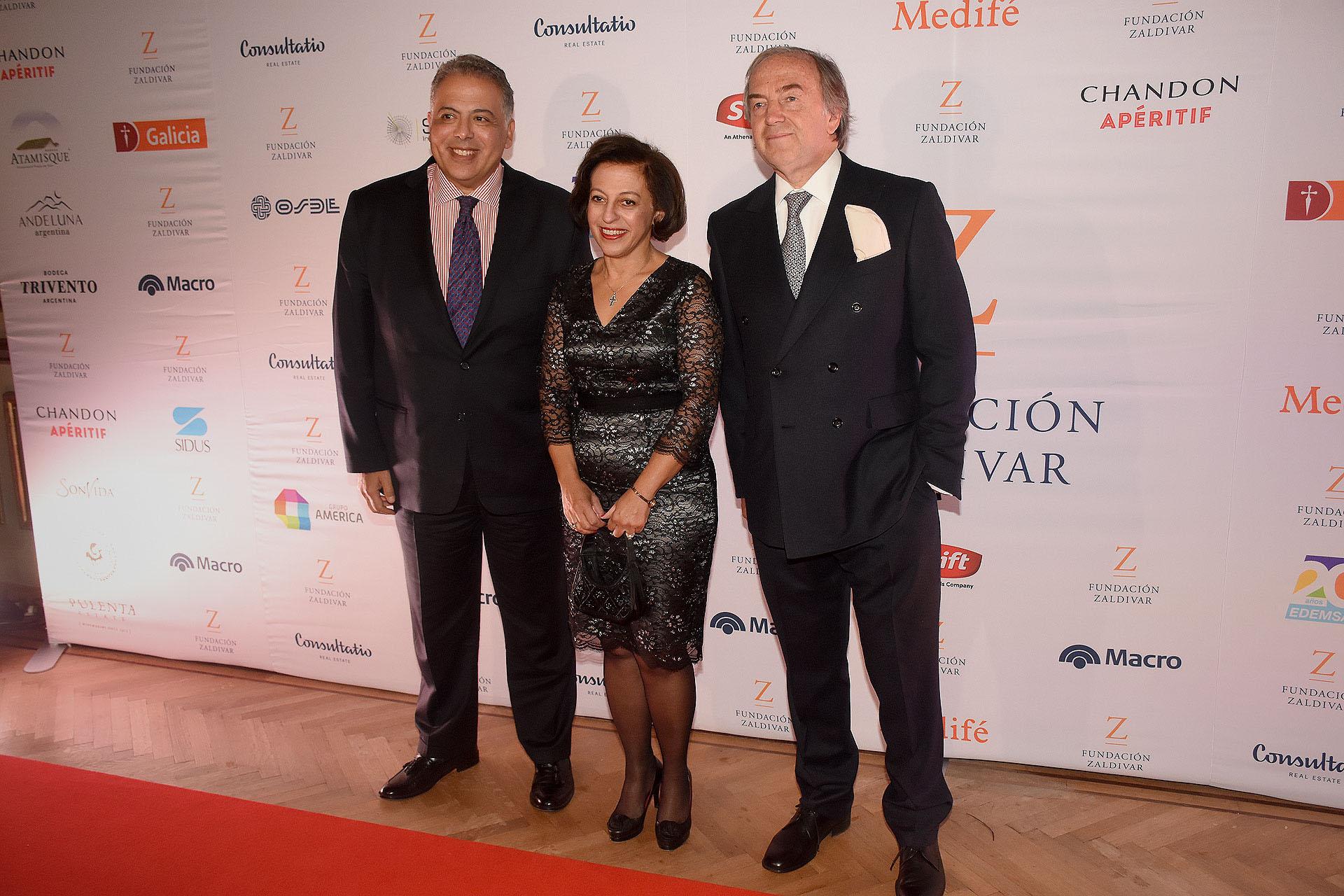 El embajador de Egipto, Amin Meleika junto a Roberto Zaldivar