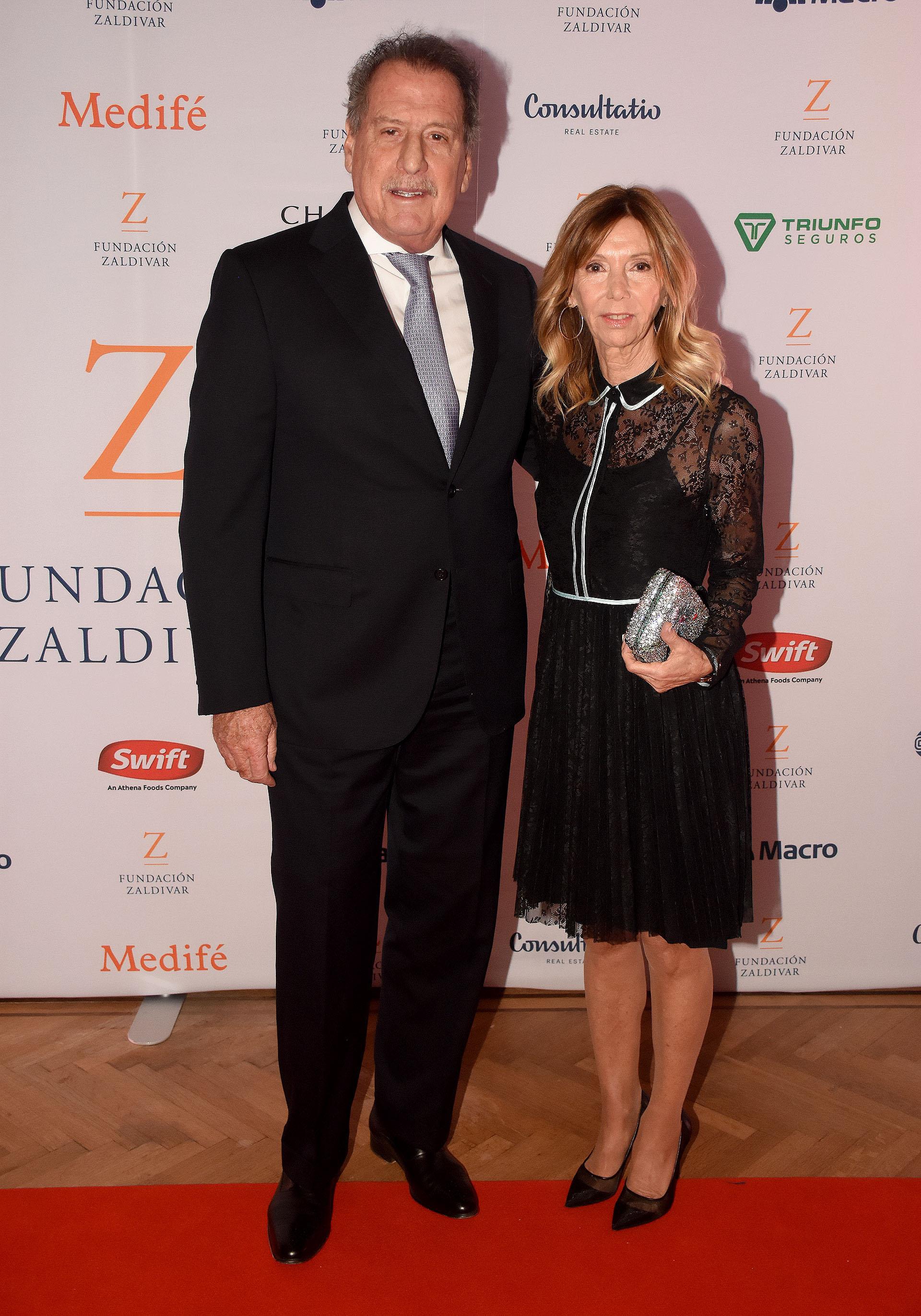 El empresario Jorge Brito y su mujer