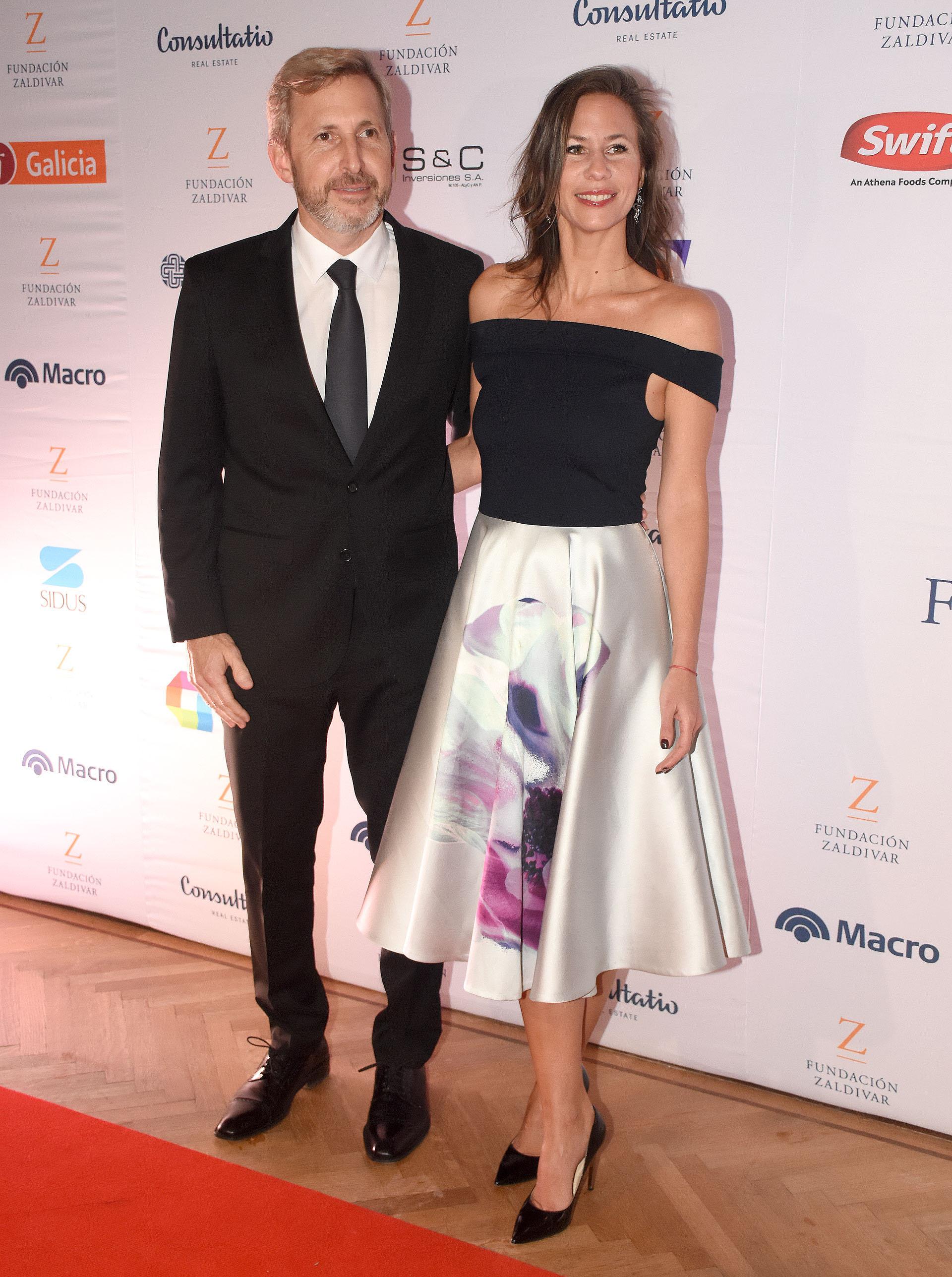 El ministro de Interior, Rogelio Frigerio y su mujer Victoria Costoya