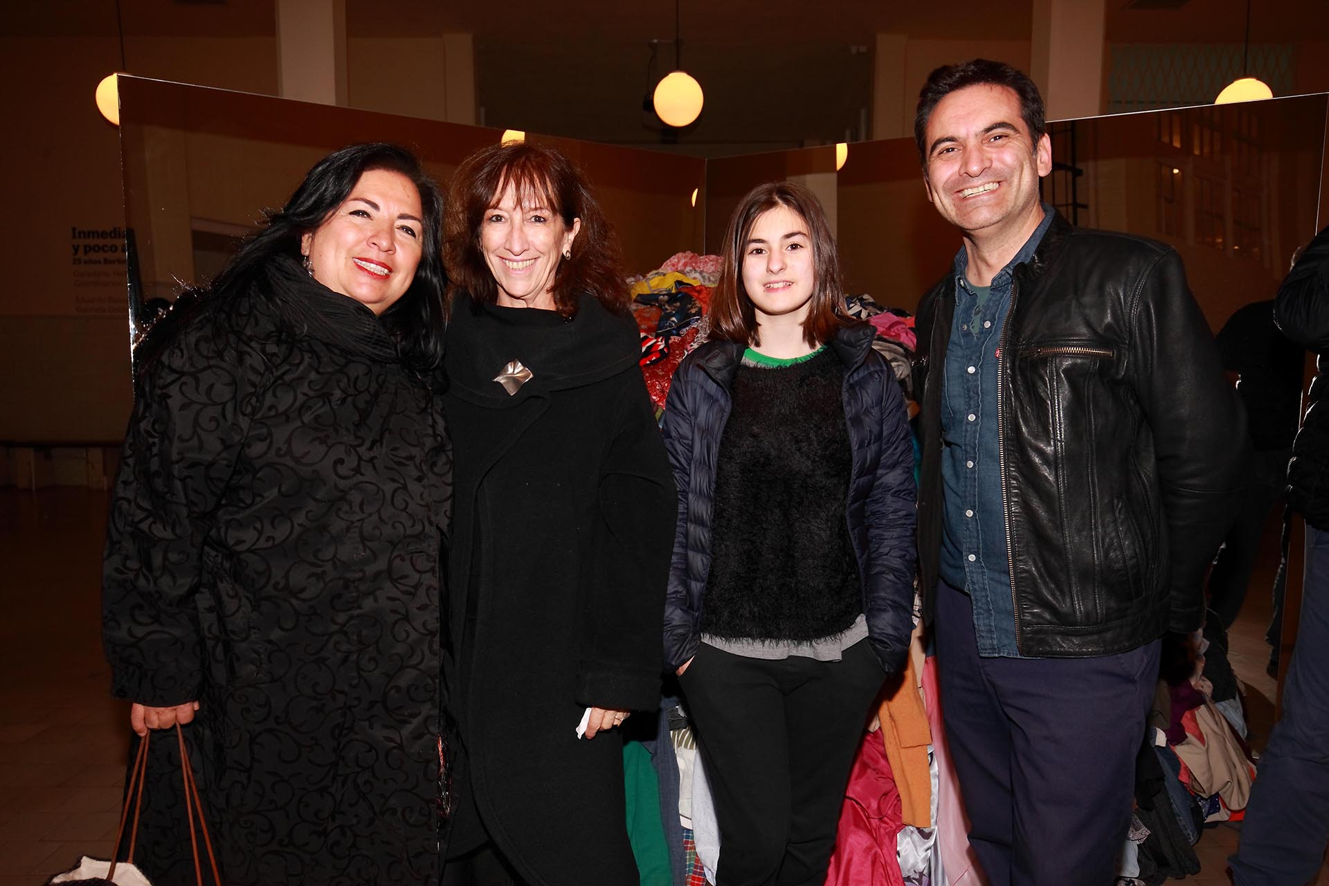 Betsabé Romero, Liliana Piñeiro, Daniel Abate y su hija