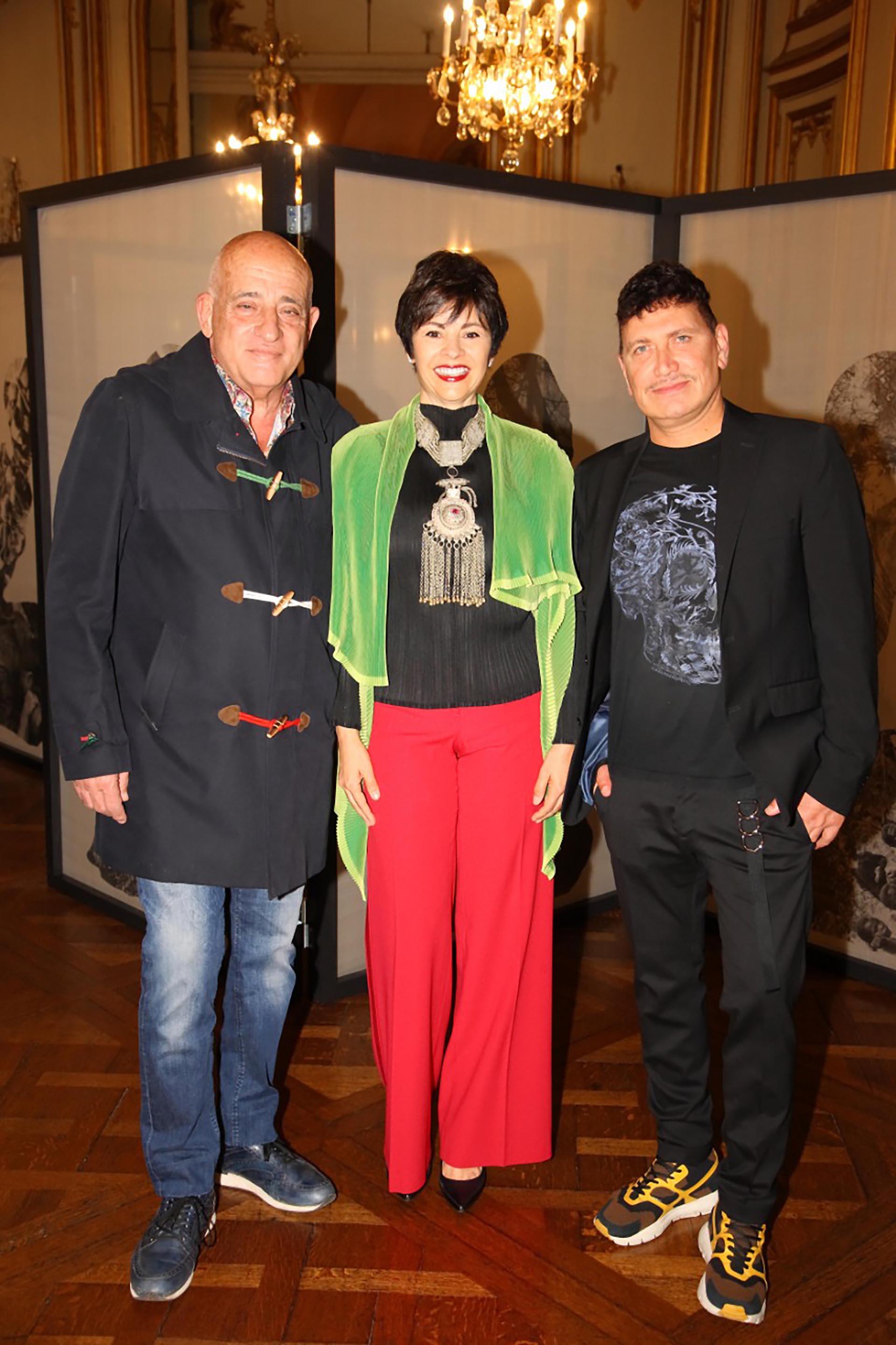 Anibal Jozami, Marlise Ilhesca Jozami y el artista franco iraní, Reza Aramesh
