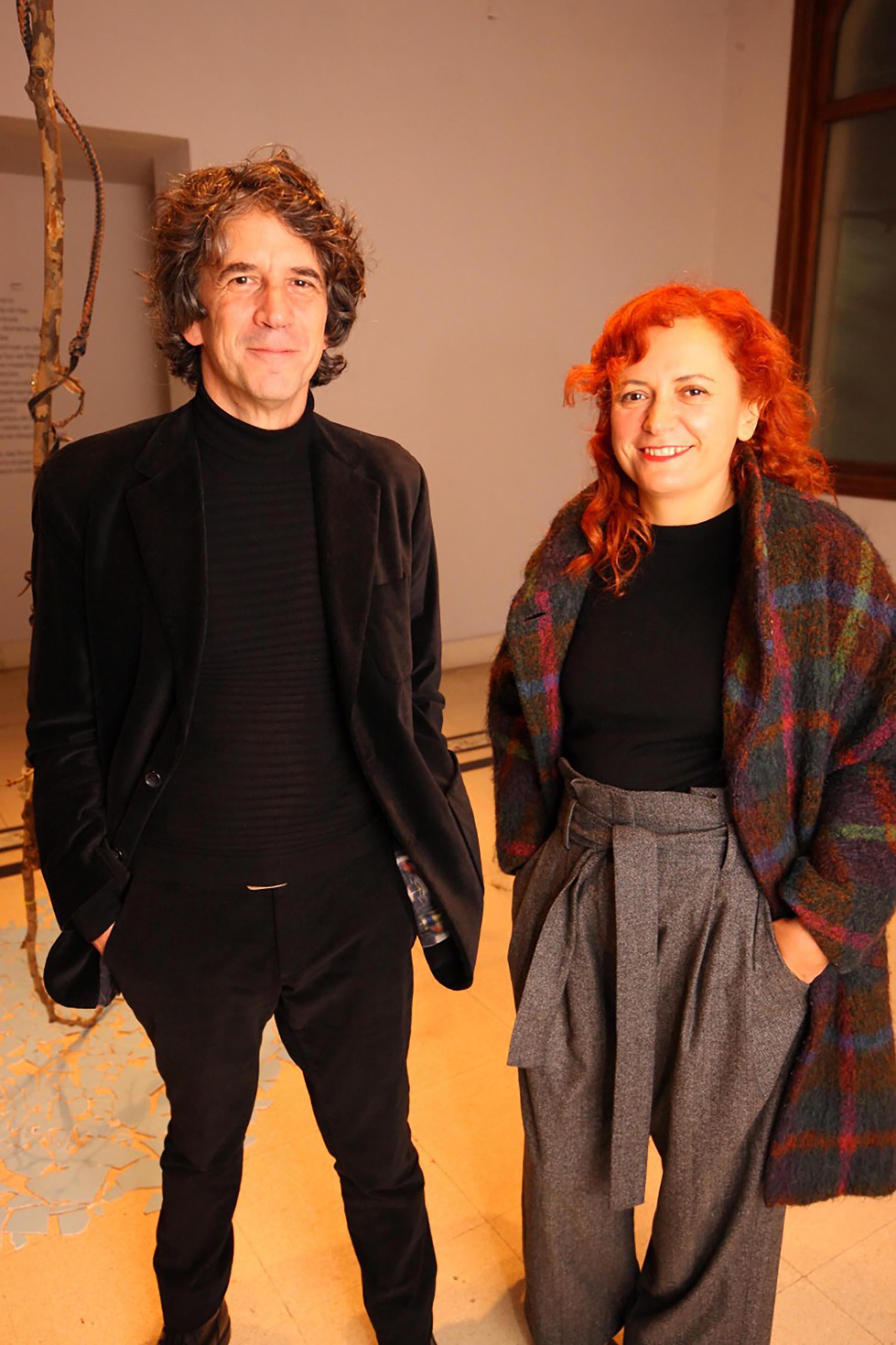El artista argentino Pablo la Padula y la uruguaya, Rita Fischer.
