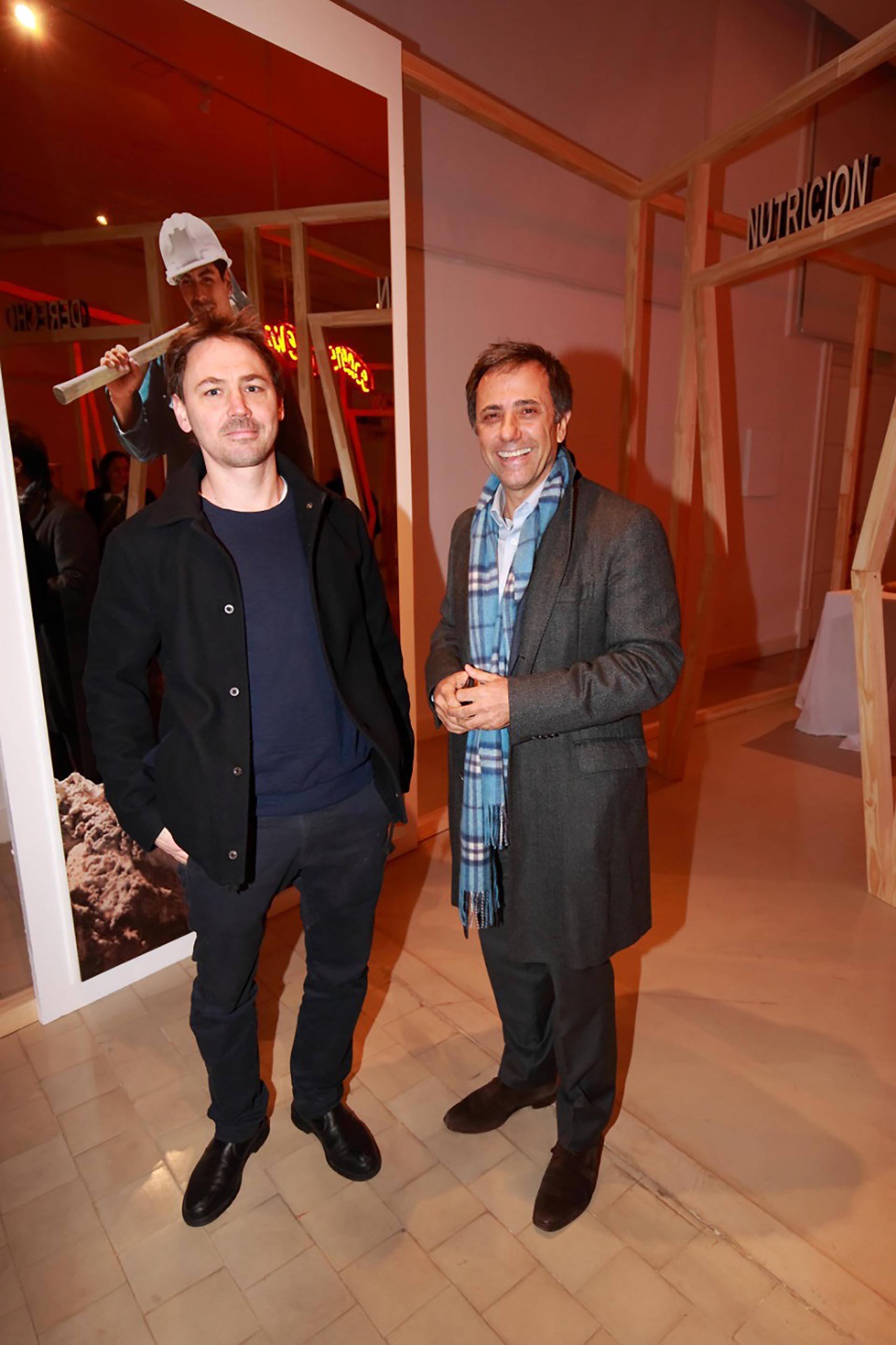 El artista Eduardo Basualdo y el empresario Claudio Stamato