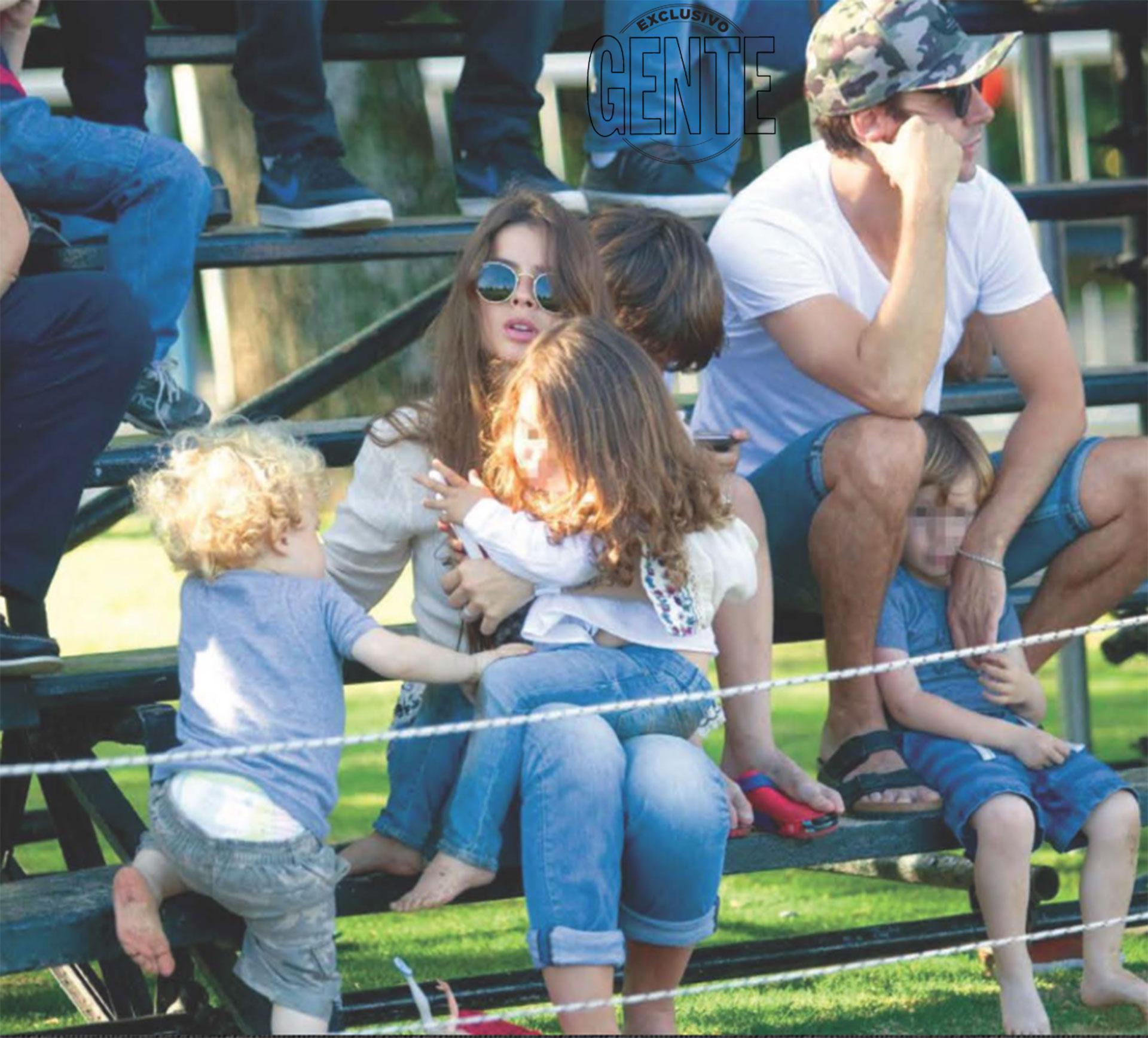El primer Día de la madre como familia ensamblada: Compartieron la final del Abierto de Tortugas, en el mismo country club donde alquilaron una casa de fin de semana.