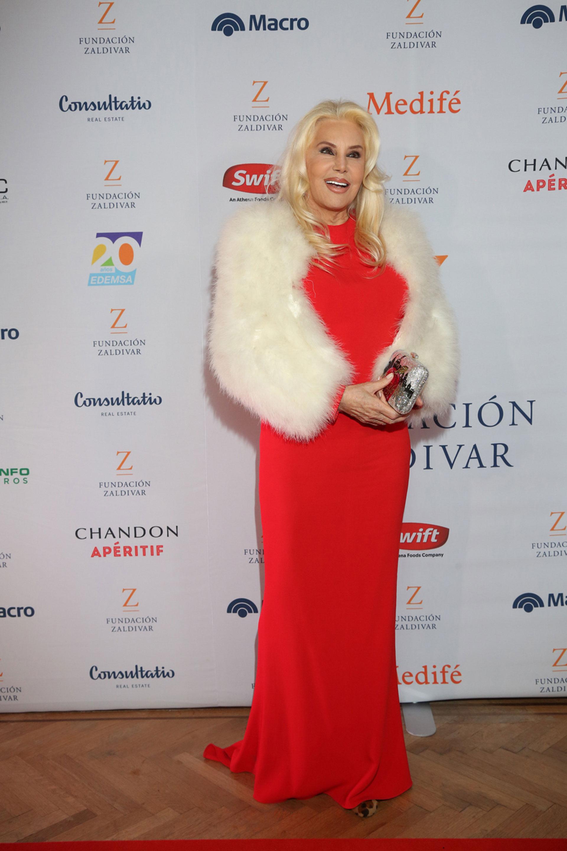 Susana Gimenez en la gala de la Fundación Zaldivar 2019.