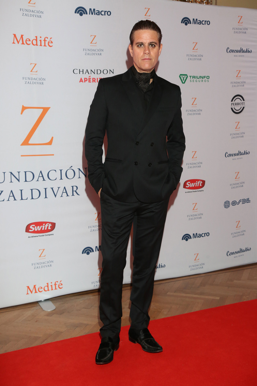 Mike Amigorena en la gala soildaria de la Fundación Zaldivar.