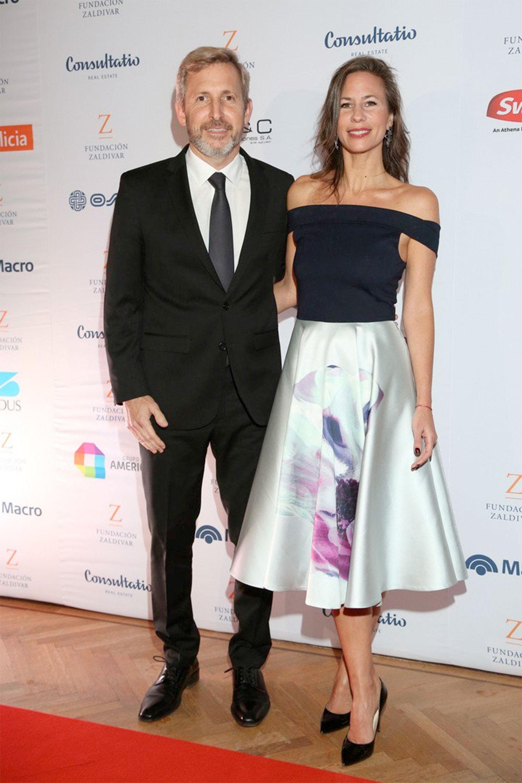 El ministro Rogelio Frigerio y su esposa, Victoria Costoya.