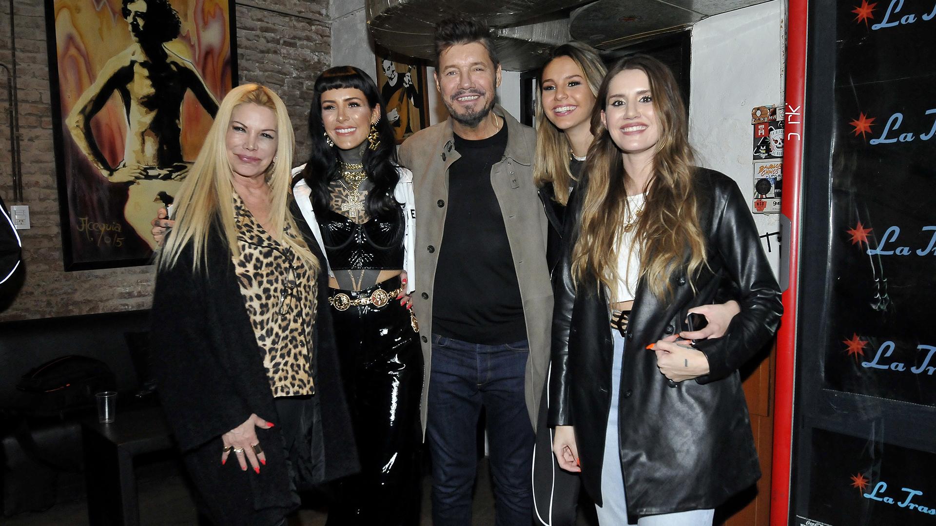Soledad Aquino, Candelaria Tinelli, Marcelo, Juanita y Mica