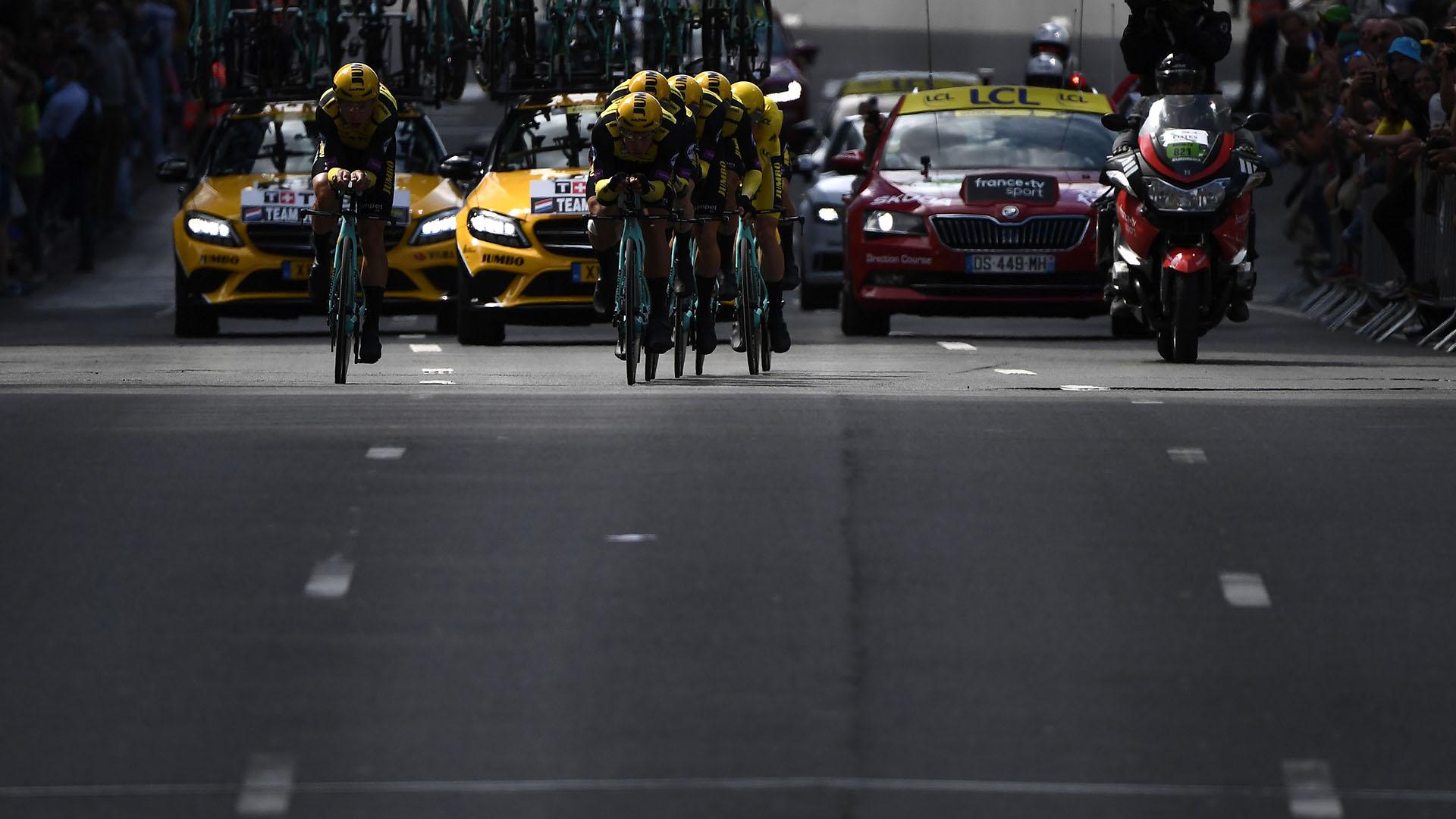 El Ineos, antiguo Sky, nunca ha conseguido ganar una contrarreloj por equipos en el Tour de Francia, aunque siempre ha quedado entre los tres primeros de la etapa (2011, 2013, 2015, 2018)