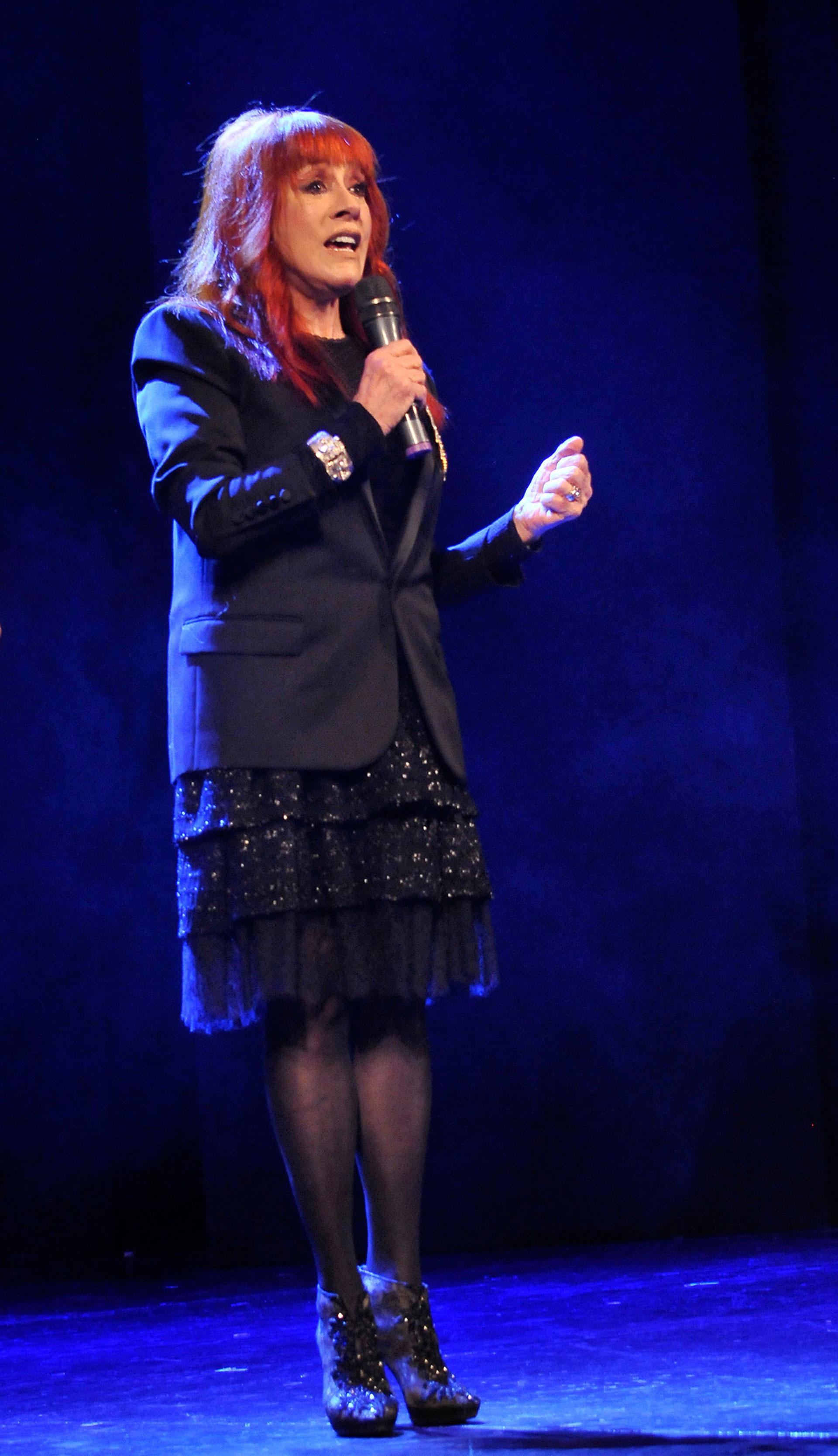 Linda Peretz dio unas palabras en el homenaje a Mirtha Legrand