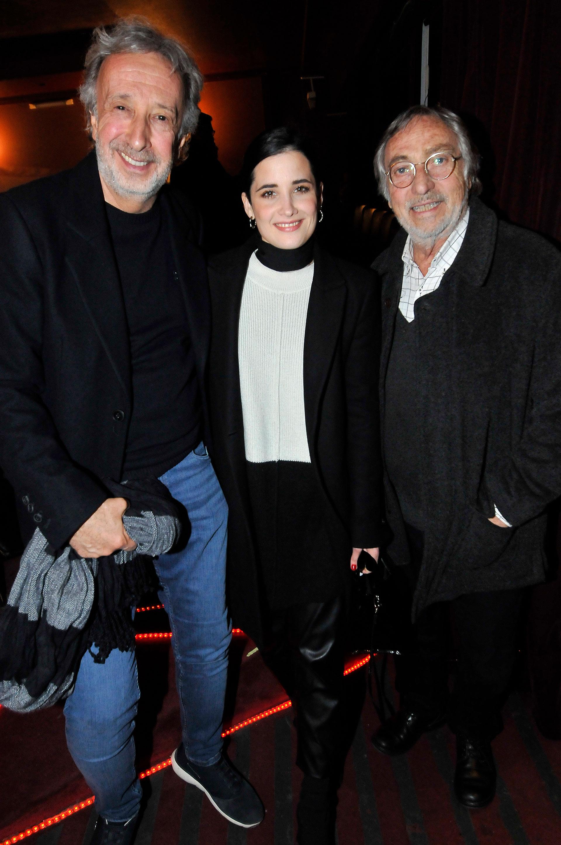 Los actores: Eduardo Blanco, Florencia Torrente y Luis Brandoni, estuvieron presentes para acompañar a la conductora