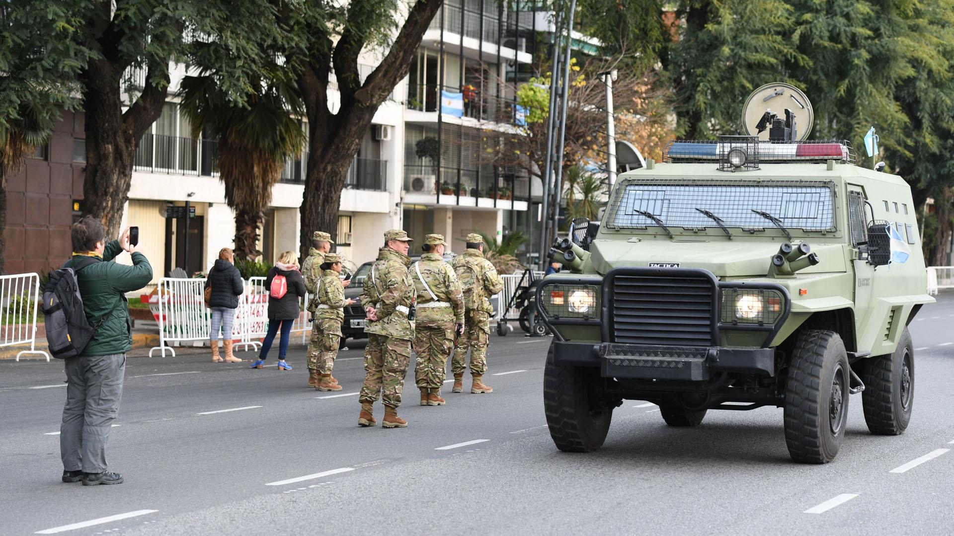 Las Fuerzas Armadas desplazaron los diferentes vehículos que tienen