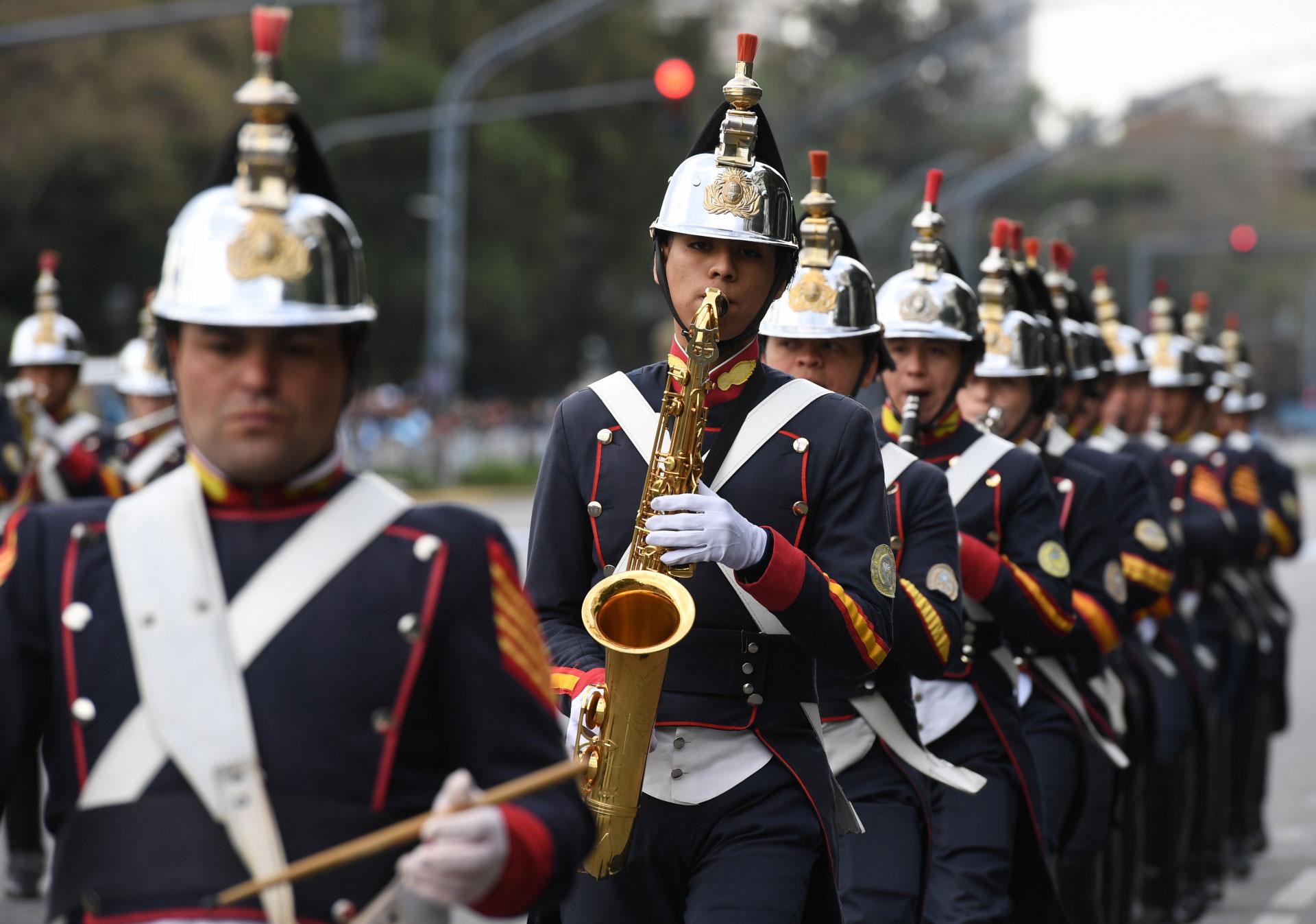 El Regimiento Coraceros formó parte del desfile militar