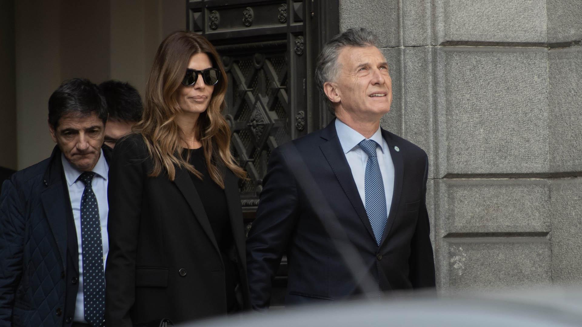 Macri y Awada se retiran del Congreso