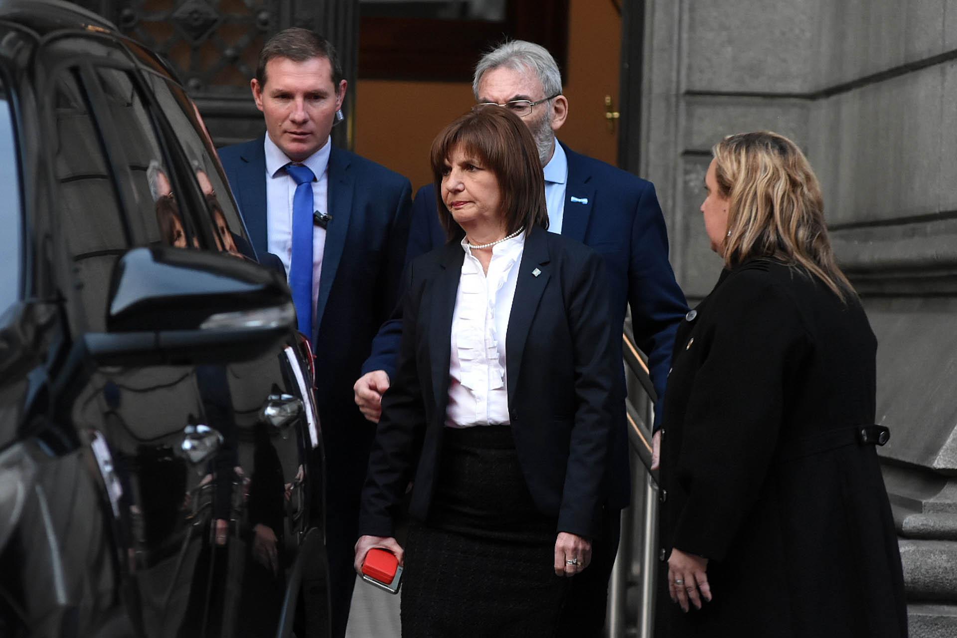 La ministra de Seguridad Patricia Bullrich
