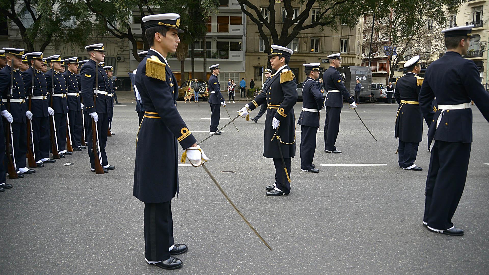 Integrantes de la Armada Argentina
