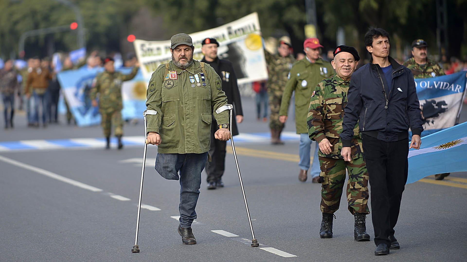 Veteranos de la Guerra de Malvinas de todas las provincias confluyeron en el acto