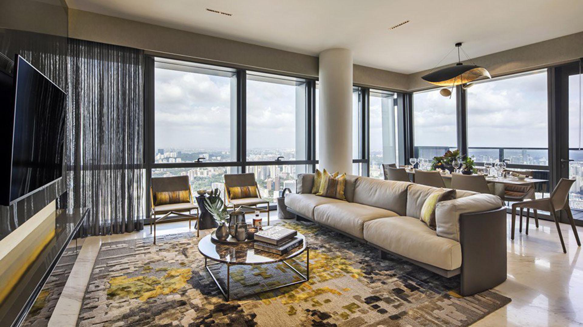 El apartamento cuenta con cinco habitaciones, cada una de ellas con su propio cuarto de baño (Keppel Land)