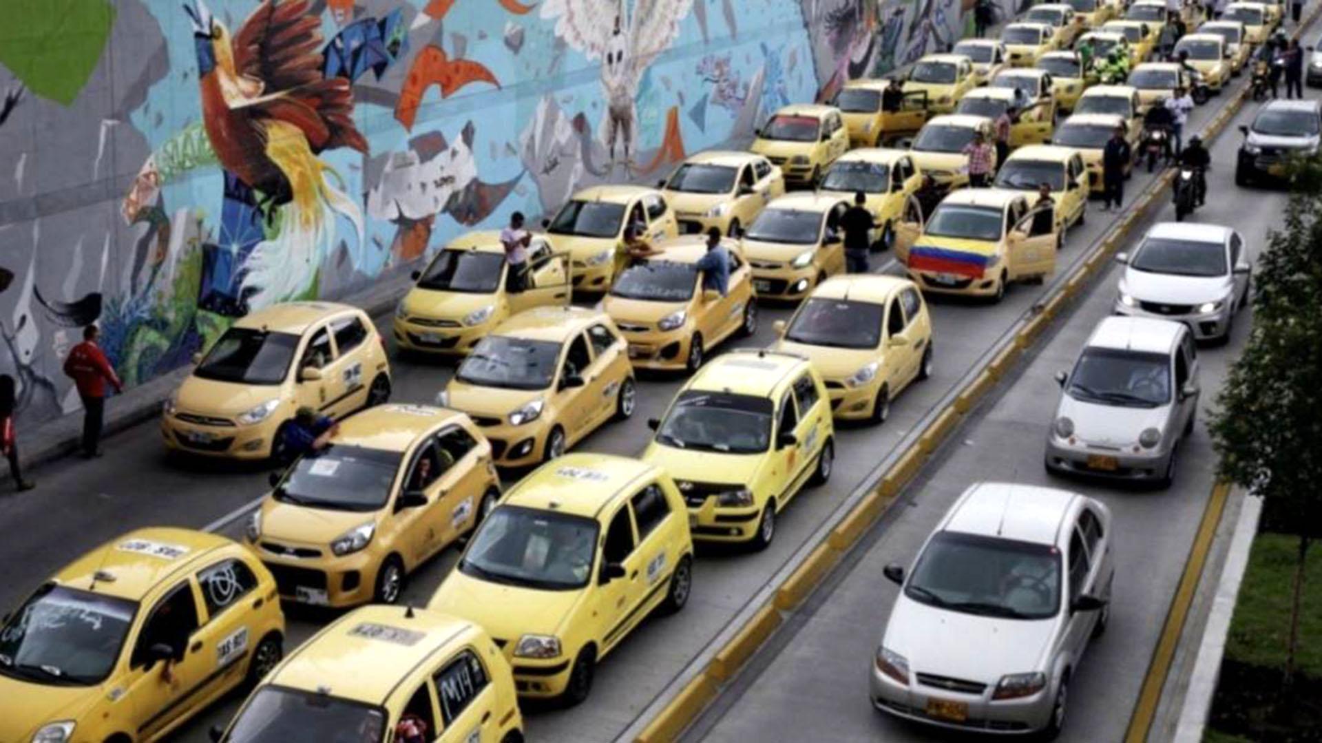 Resultado de imagen para paro taxistas