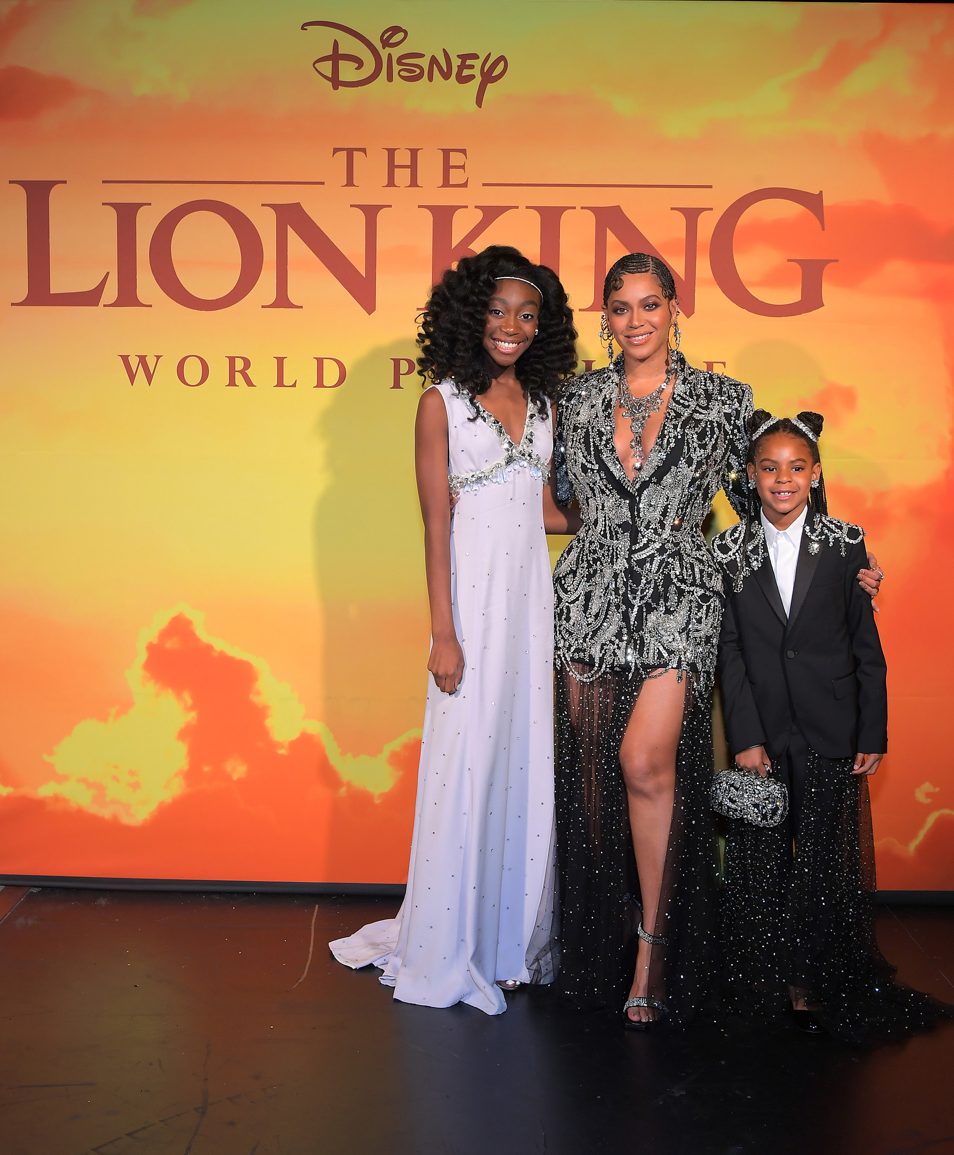 Shahadi Wright Joseph, Beyonce Knowles-Carter, y Blue Ivy Carter