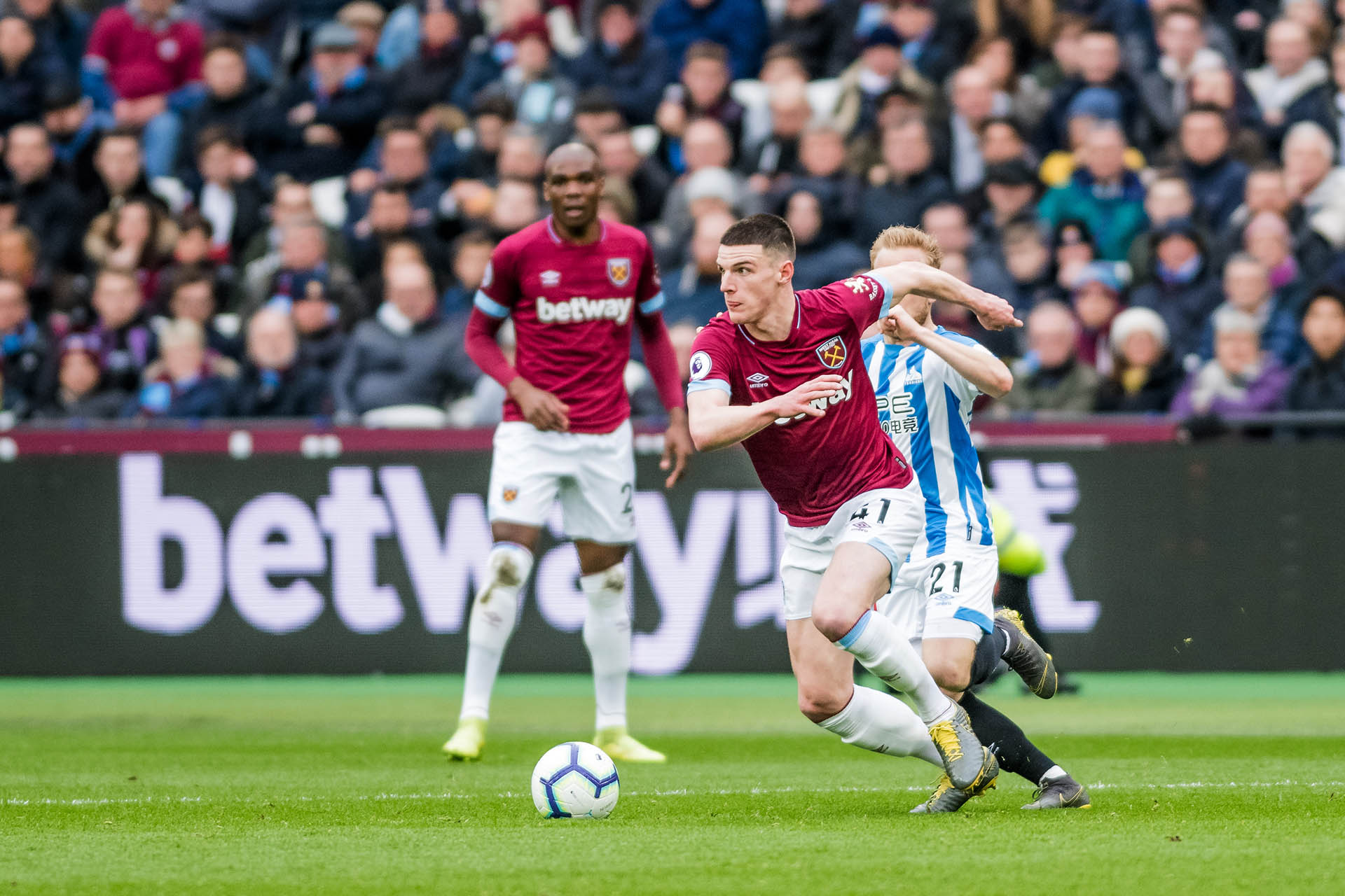 El inglés Declan Rice (West Ham United) USD 43,8 millones