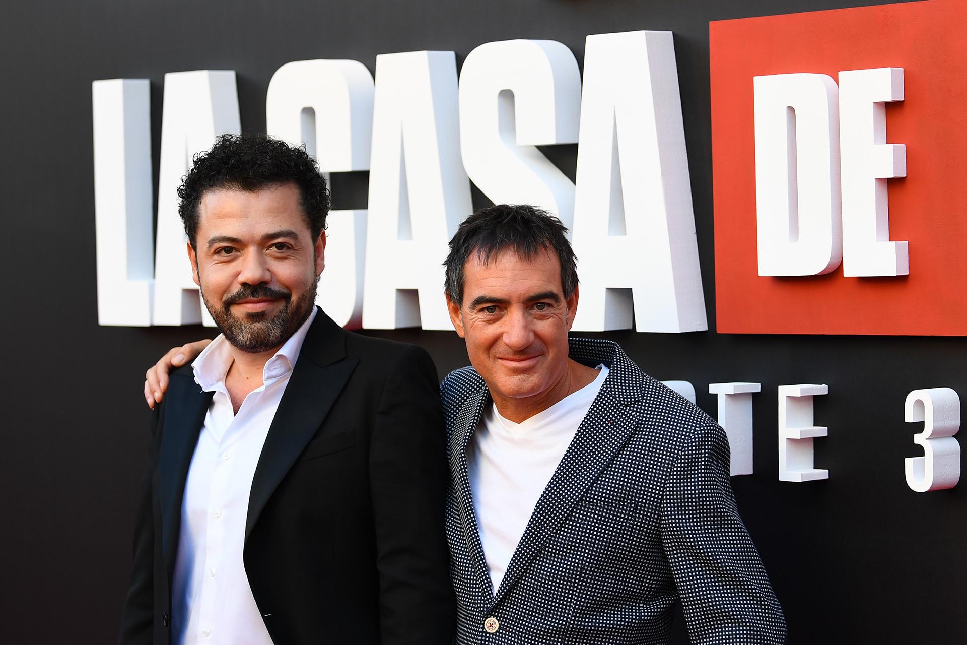 El productor Alex Pina y el director Jesús Colmenar