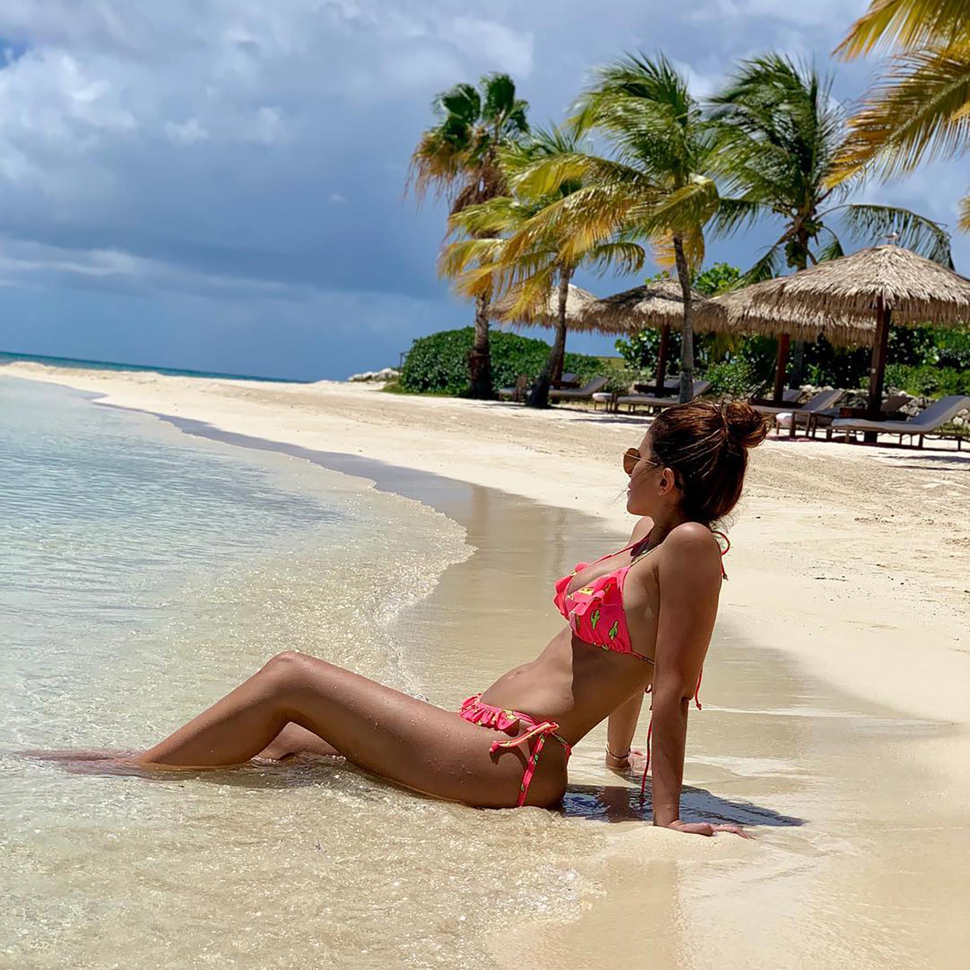 Antonella Roccuzzo y Leo Messi viajaron junto a sus tres hijos al Caribe. La familia se encuentra en Antigua y Barbuda disfrutando de unas vacaciones (Foto: Instagram)