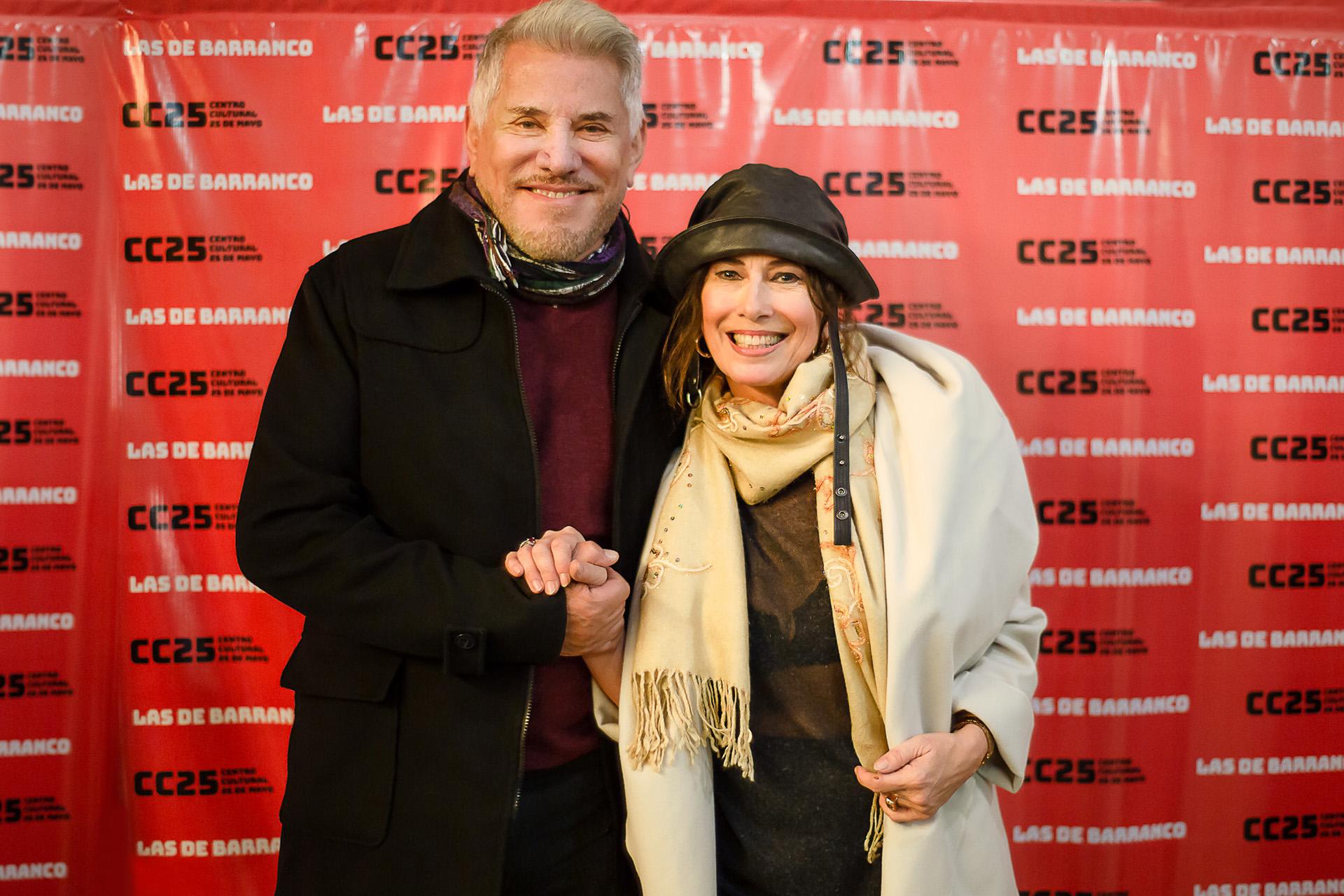 """Arnaldo André y Luisa Kuliok, la ex pareja protagonista de la novela """"Amo y Señor"""", se reencontraron en la obra """"Las de Barranco"""", el espectáculo que protagoniza la actriz"""