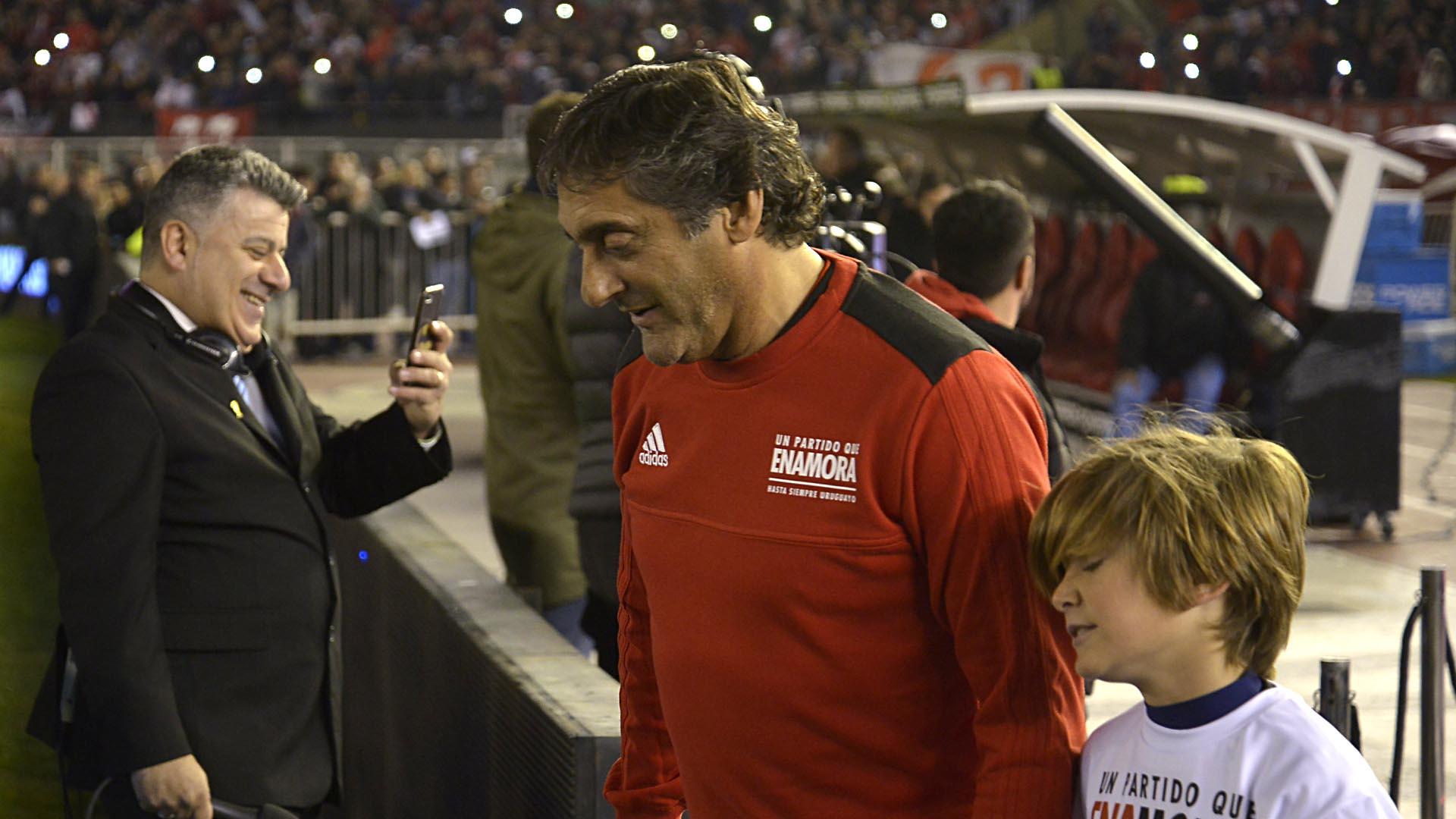 Enzo Francescoli también jugó con Rodrigo Mora