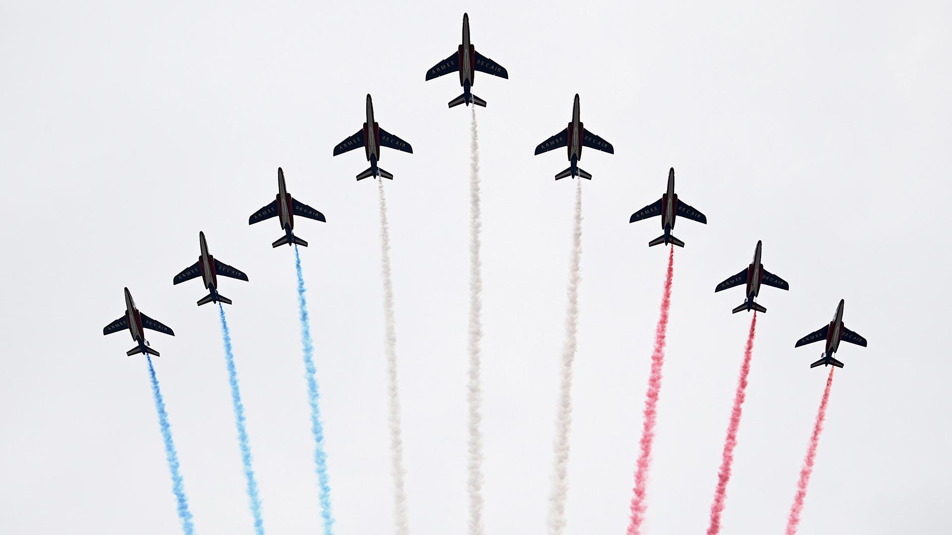 El escuadrón acrobático Patrouille de France