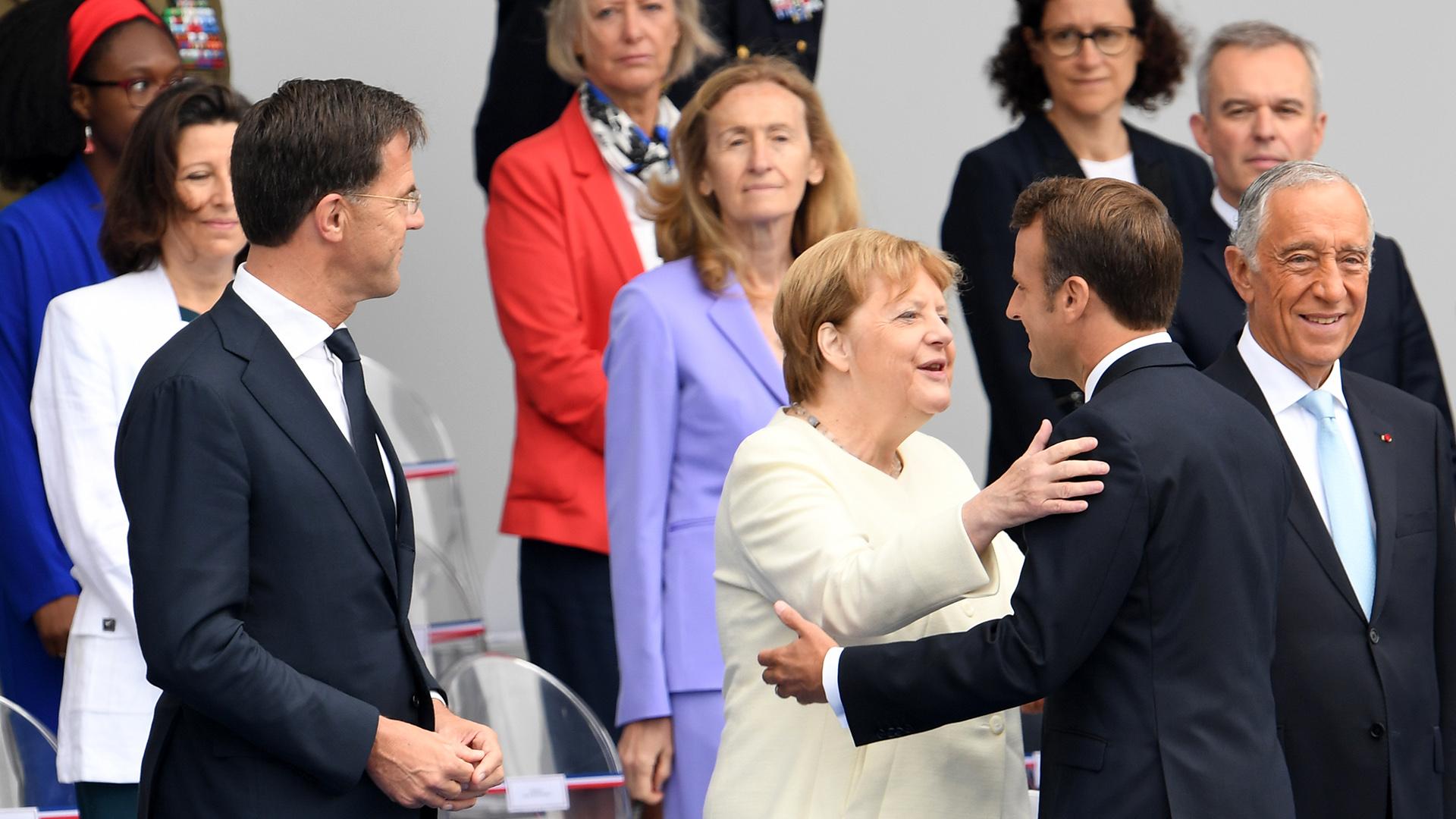 La canciller alemana Angela Merkel participó de las celebraciones