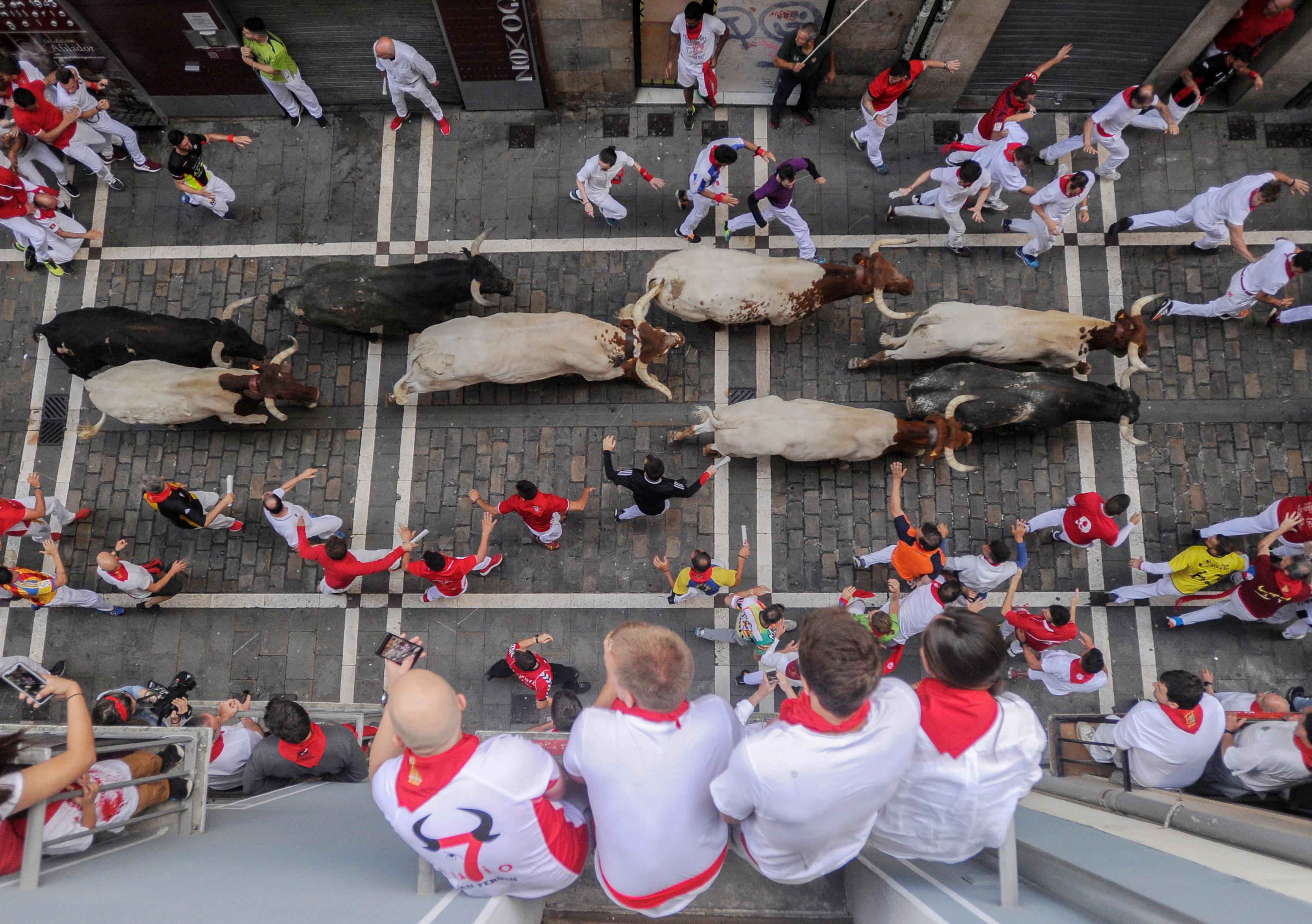 Los miuras, como es tradición, protagonizaron el último encierro de las fiestas de San Fermín, que empezaron el pasado día 6, aunque las carreras de toros, el aspecto más conocido internacionalmente, fueron desde el día siguiente