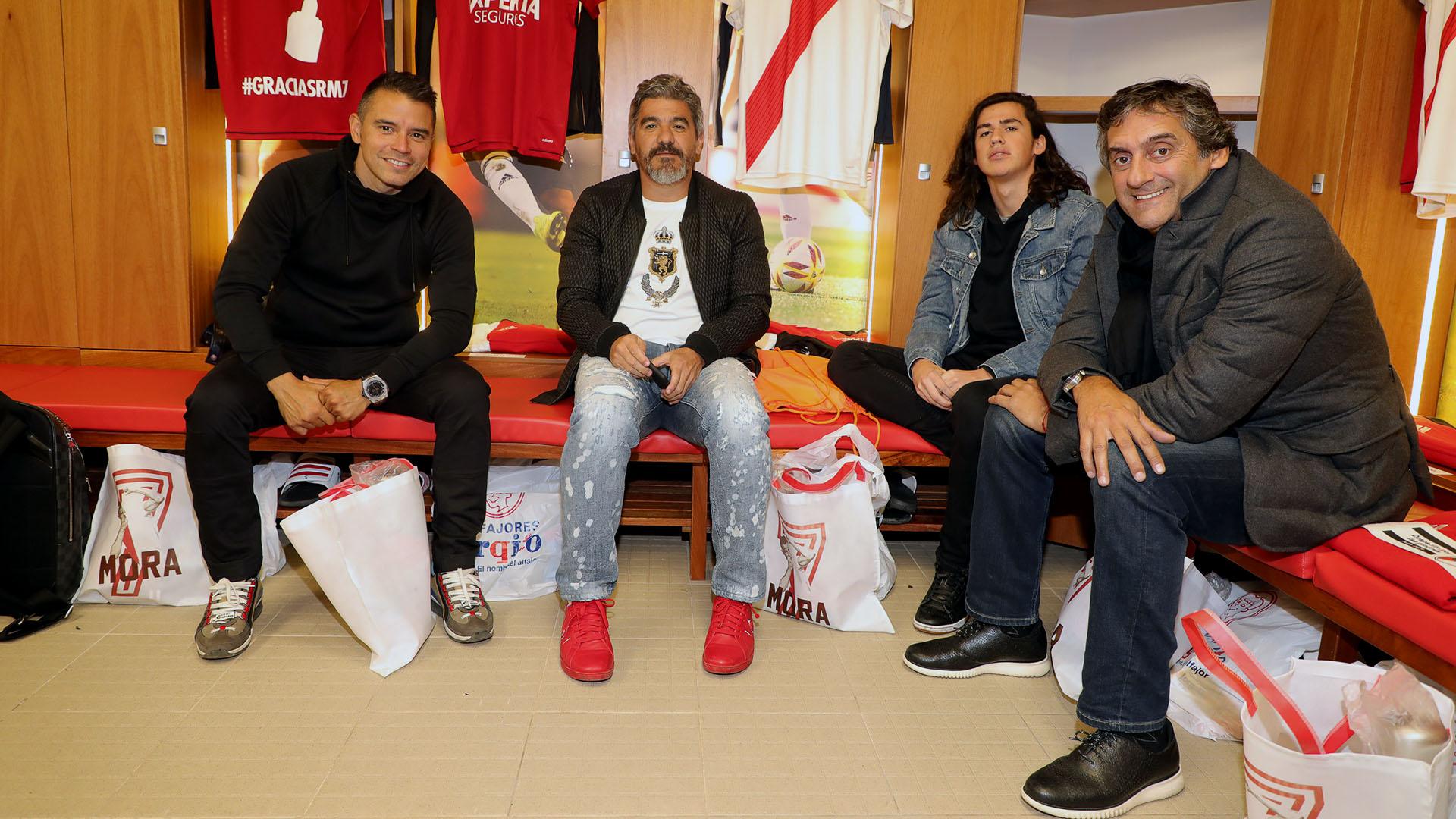 """Saviola, Ortega y Francescoli, viejas glorias del """"Millonario"""""""