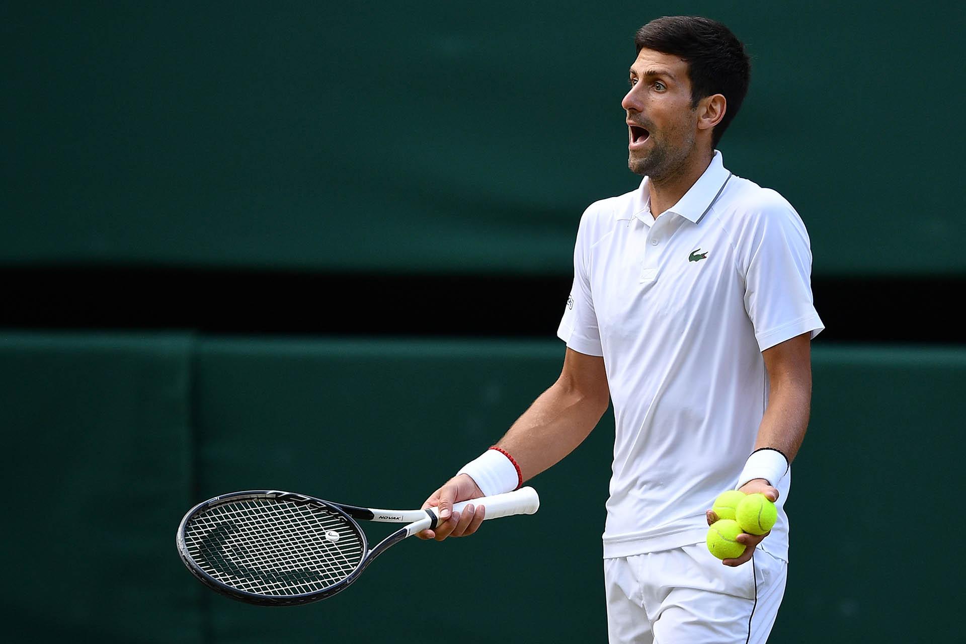 Djokovic discutió algunos fallos de los jueces(AFP)