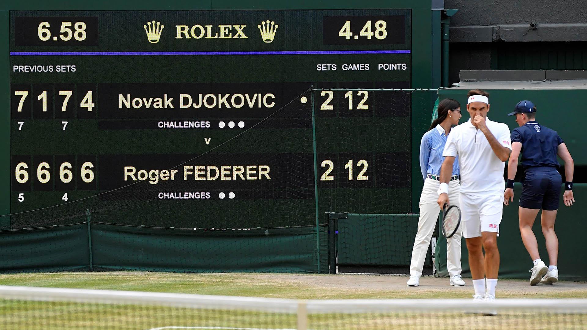 Fue el 48° enfrentamiento entre Federer y Djokovic (REUTERS)