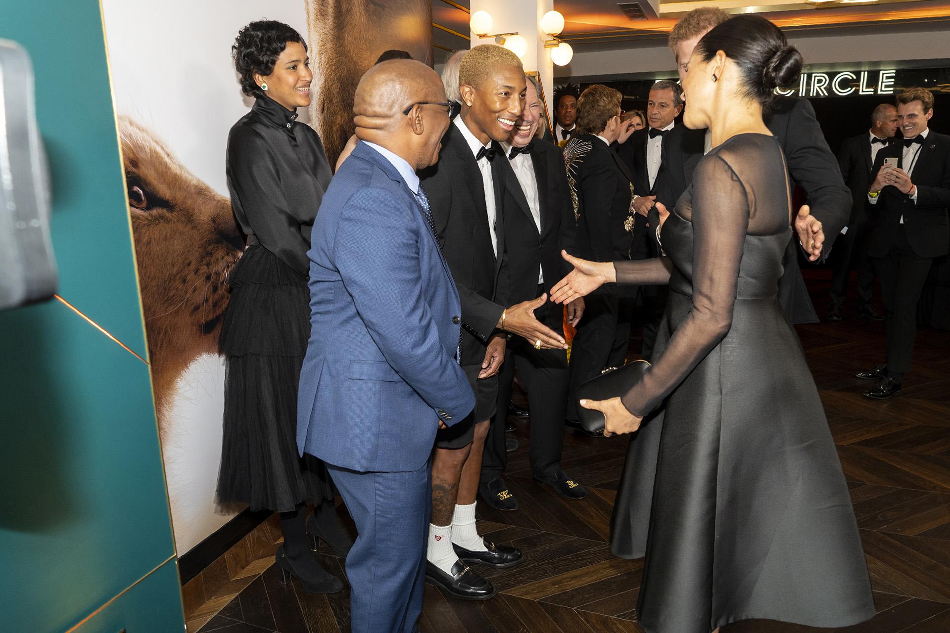 Pharrel Williams también estuvo entre los invitados vip