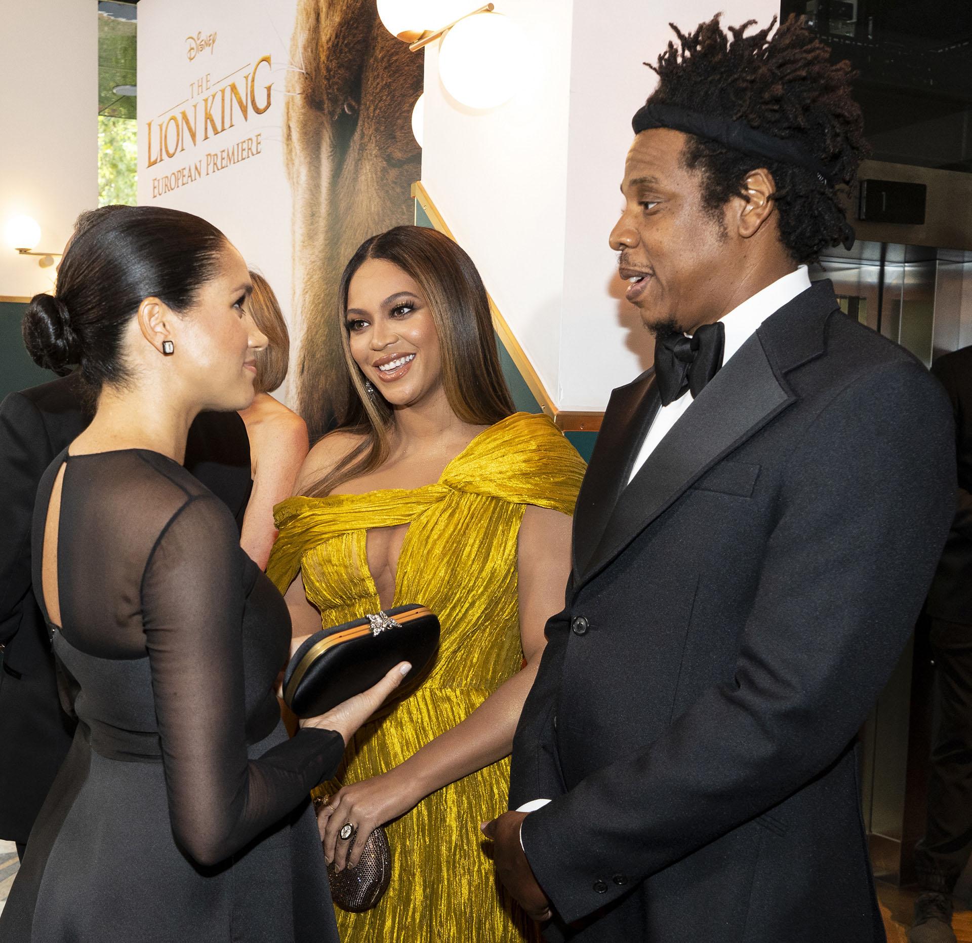 Durante el evento saludaron a los cantantes Beyoncé y Jay Z