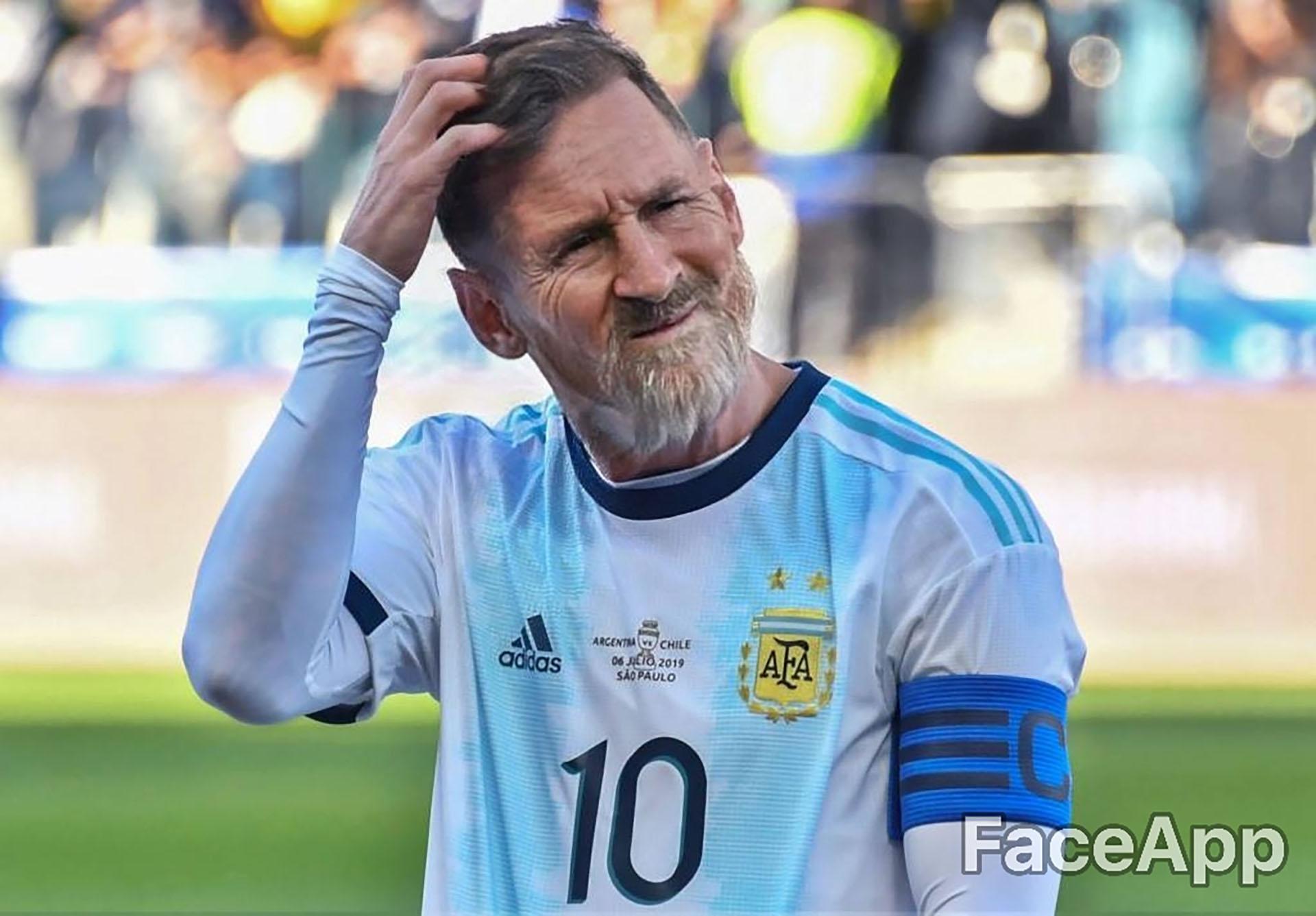 Lionel Messi sigue jugando para la selección argentina a los 70 años, pero aún no pudo ganar un Mundial